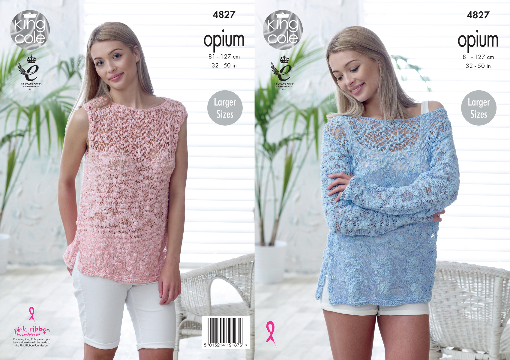 King Cole Womens Opium Knitting Pattern Off Shoulder Sweater ...