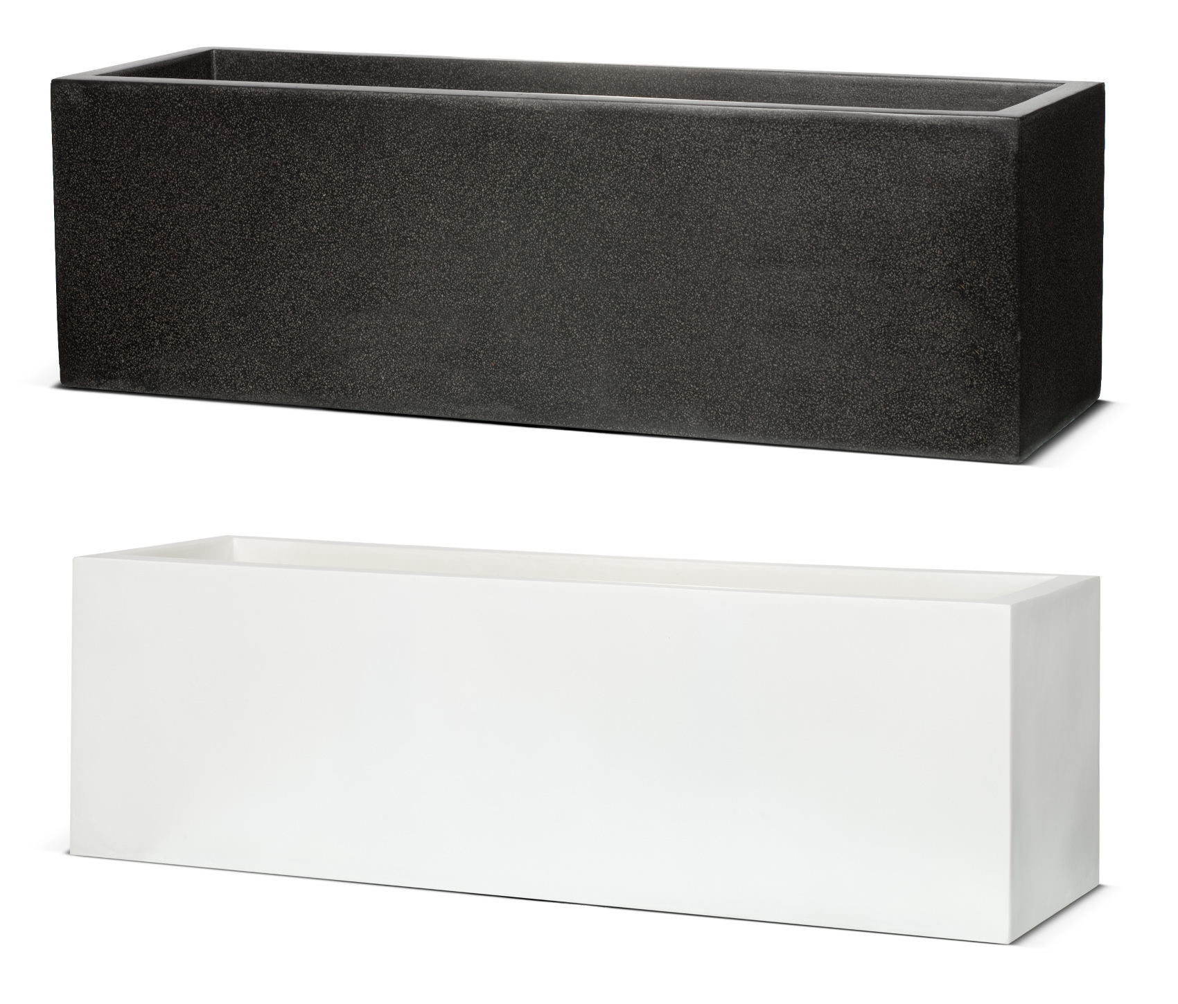 planter box series rectangular veradek long planters rectangle metallic pin
