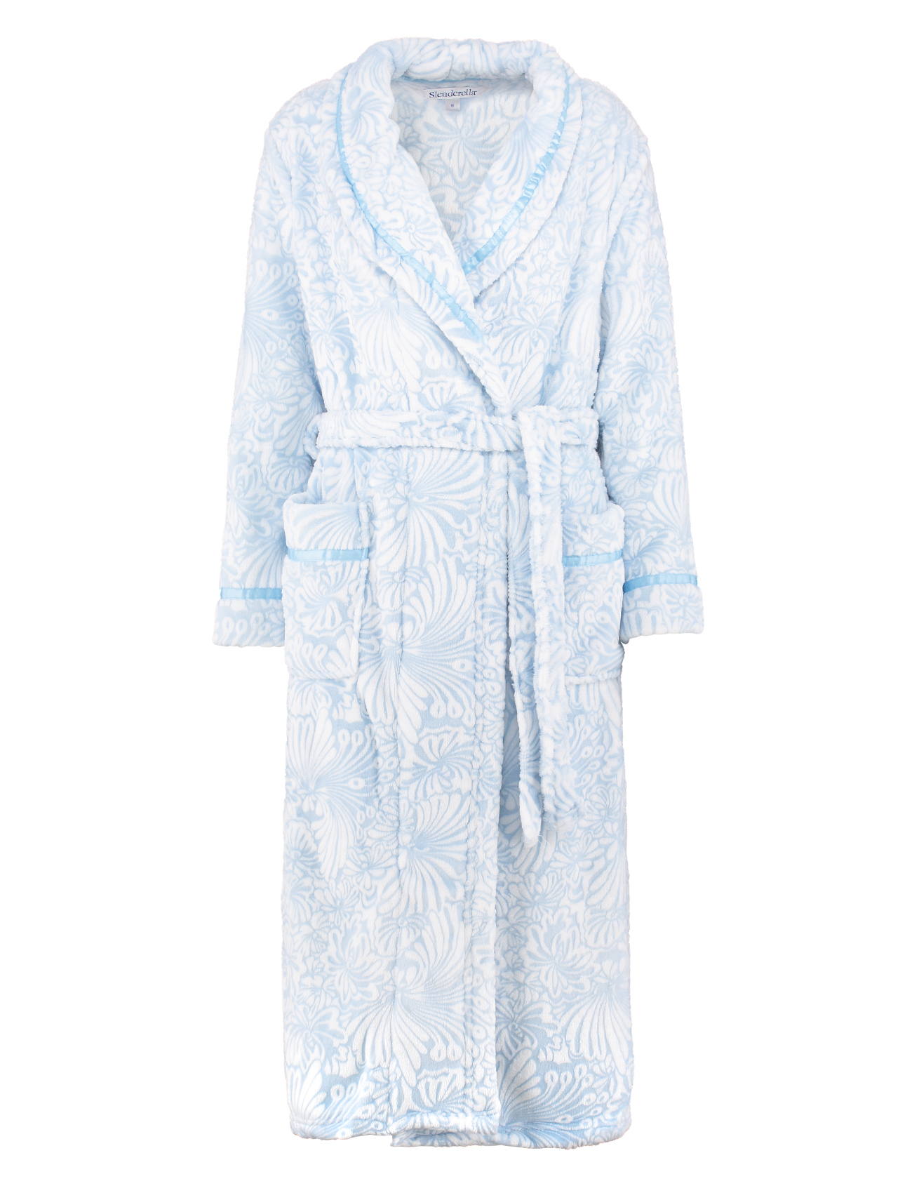 Bathrobe Slenderella Womens Wrap Super Soft Fleecy Floral Jacquard ...