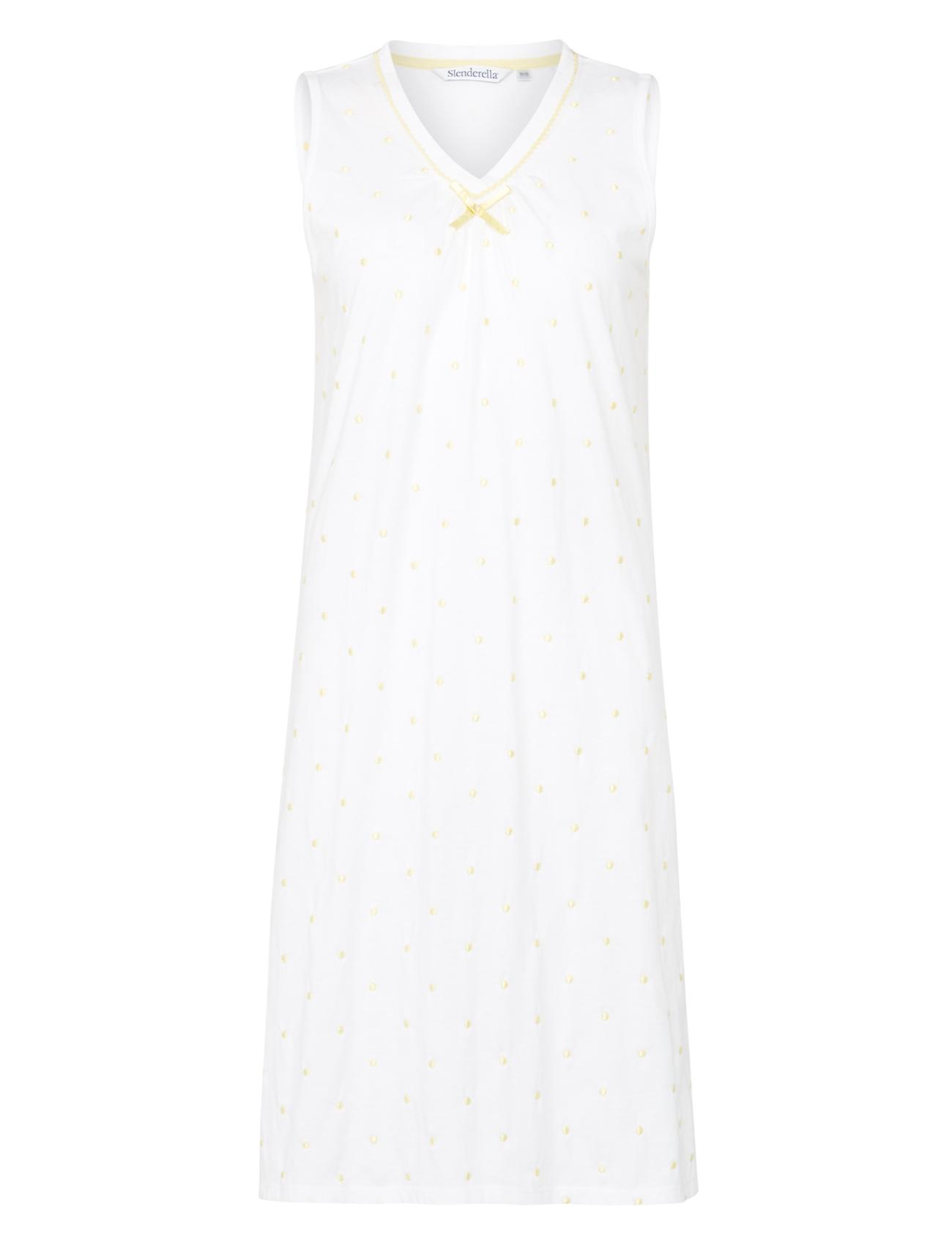 Nightdress 100% Cotton Dobby Dot Sleeveless Nightgown Womens Slenderella  Nightie 66cfe488d