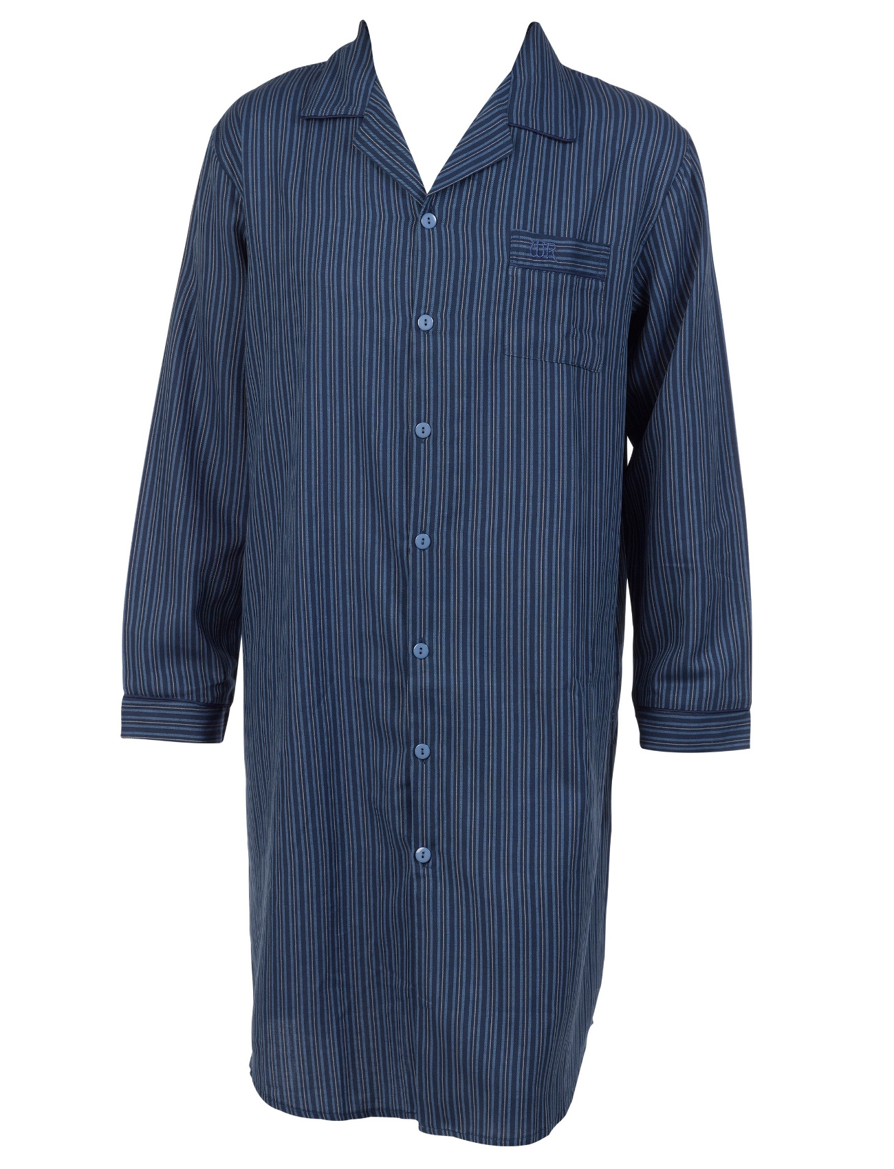 Striped Mens Night Shirt 100 Cotton Walker Reid Button Up