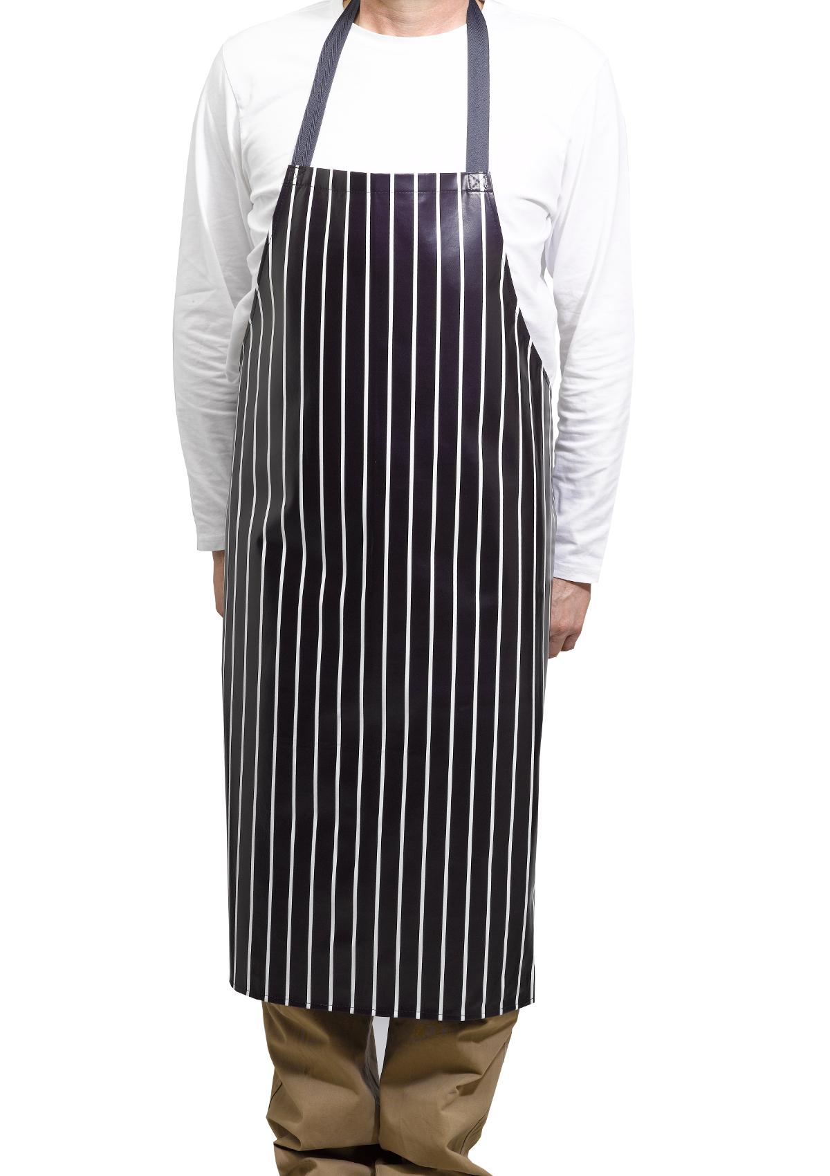 Blue and white strip chef aprons congratulate