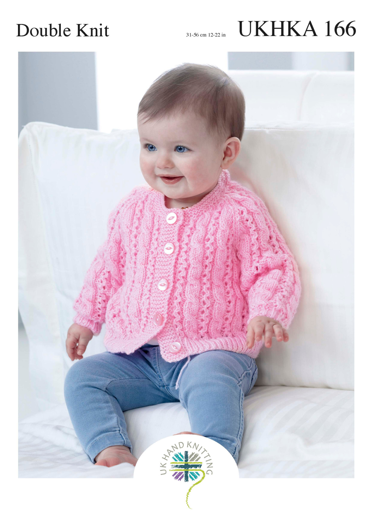 Ukhka 166 baby double knitting pattern lacy round v neck cardigan please look at images below for the chart showing measurements yarn and materials requirement to make this garment this is a ukhka baby knitting pattern bankloansurffo Choice Image