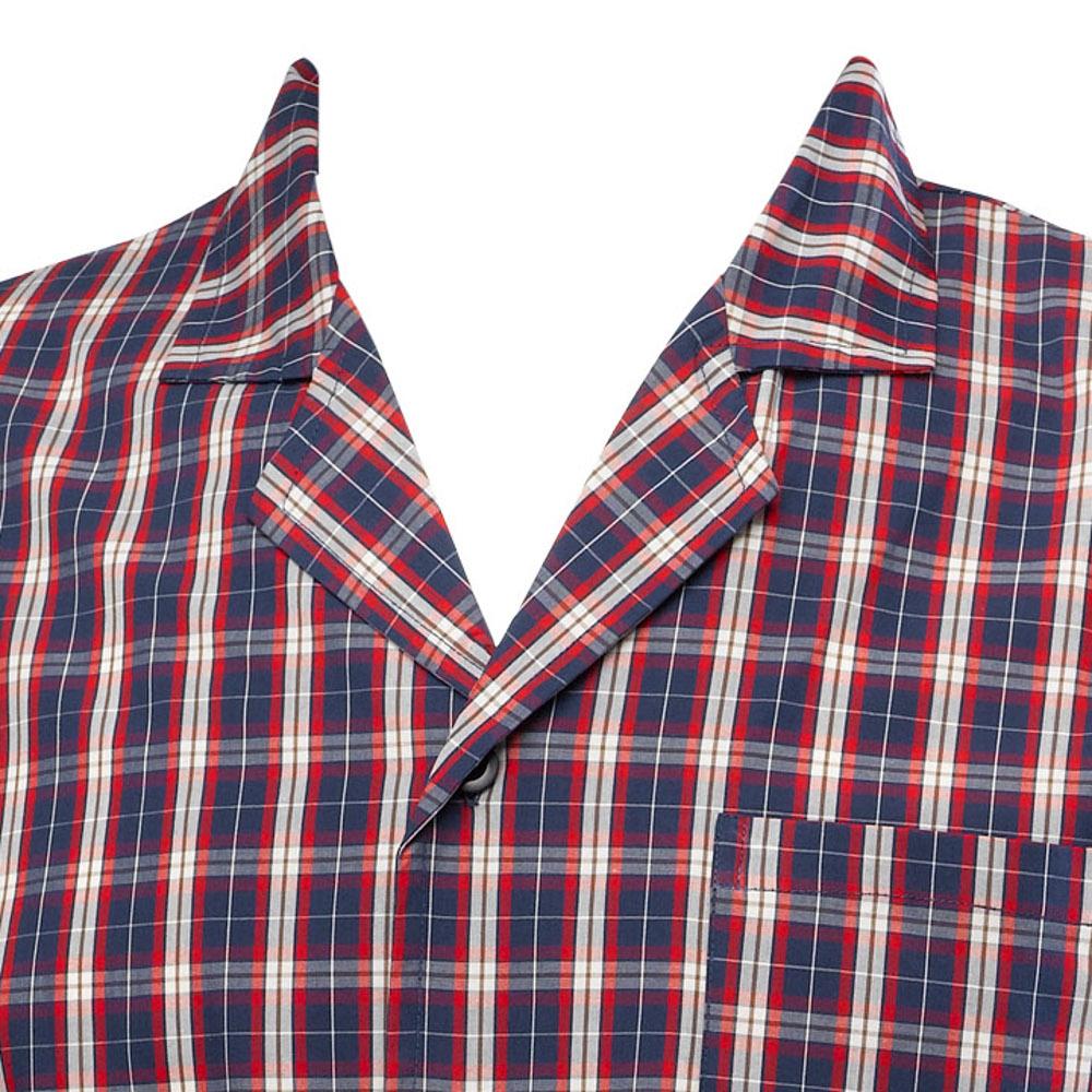 ec37c6db38 Red Checked Mens Night Shirt 100% Cotton Twill Walker Reid Traditional  Sleepwear