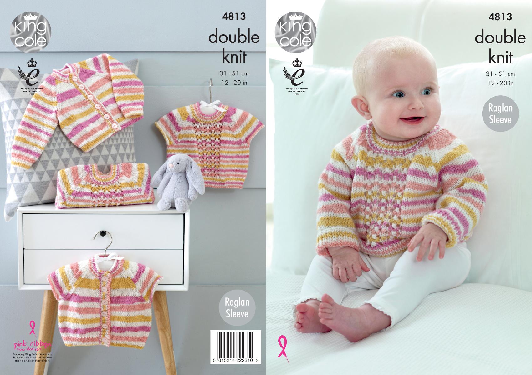 Baby double knitting pattern raglan sleeve cardigans sweaters king baby double knitting pattern raglan sleeve cardigans sweaters king cole dk 4813 bankloansurffo Choice Image