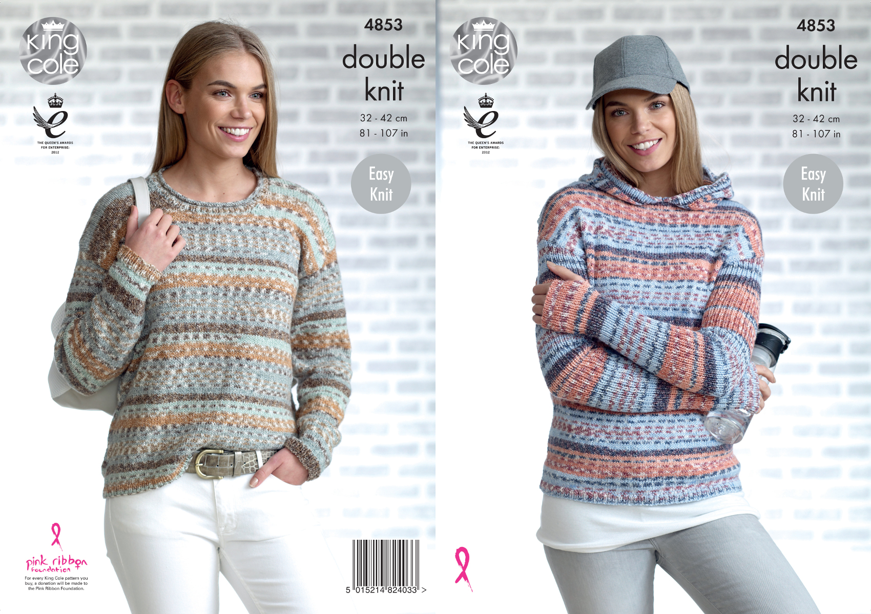Easy Knit Womens Double Knitting Pattern Ladies Hoodie & Jumper King ...