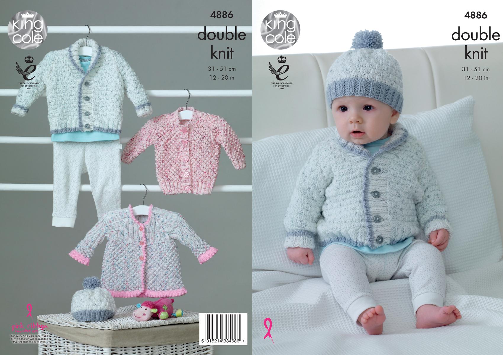 Baby double knitting pattern jacket cardigan matinee coat hat king baby double knitting pattern jacket cardigan matinee coat hat king cole dk 4886 bankloansurffo Choice Image