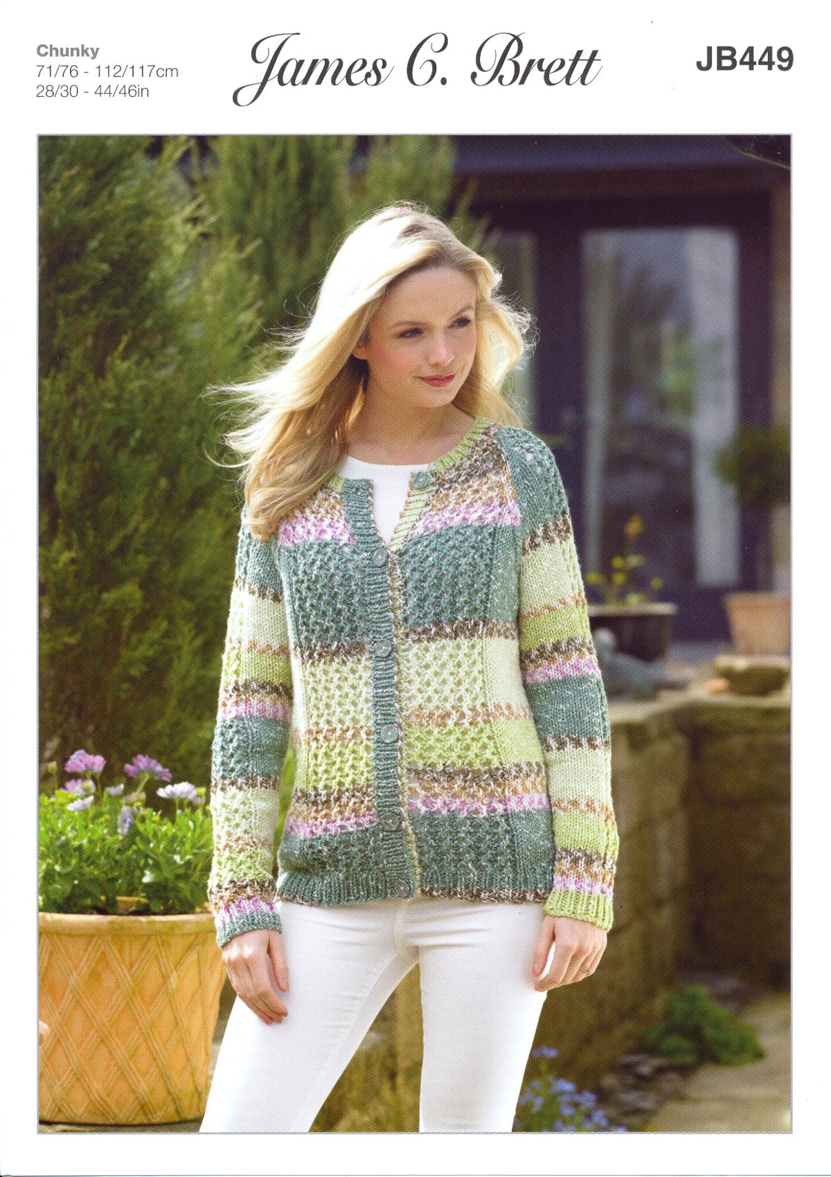 1beaaac1a717da Harmony Chunky Knitting Pattern Ladies Long Sleeved Cardigan James ...