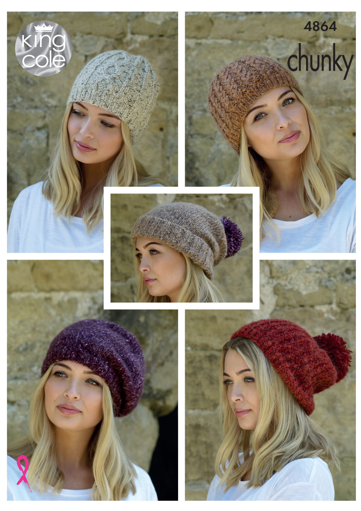 Womens hats knitting pattern ladies winter accessories king cole please look at images below for the chart showing measurements yarn and materials requirement to make this garment bankloansurffo Gallery