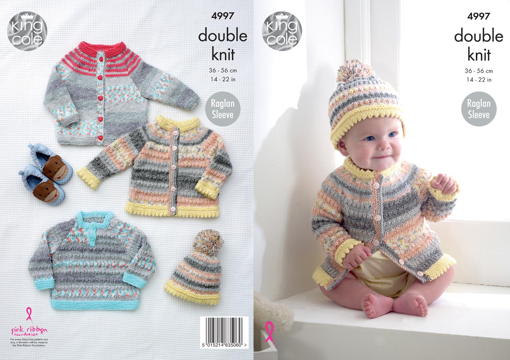 Baby double knitting pattern raglan sleeve cardigans sweater hat baby double knitting pattern raglan sleeve cardigans sweater hat king cole 4997 bankloansurffo Choice Image