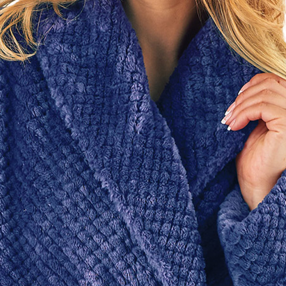 cecf7b60ee These ladies luxury waffle fleece dressing gowns are approximately ankle  length