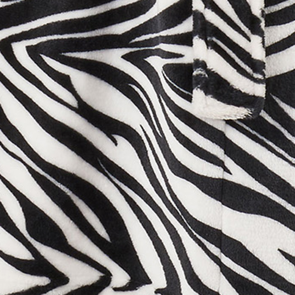 3175390777 These ladies luxury soft fleece dressing gowns by Slenderella have a fun zebra  print throughout
