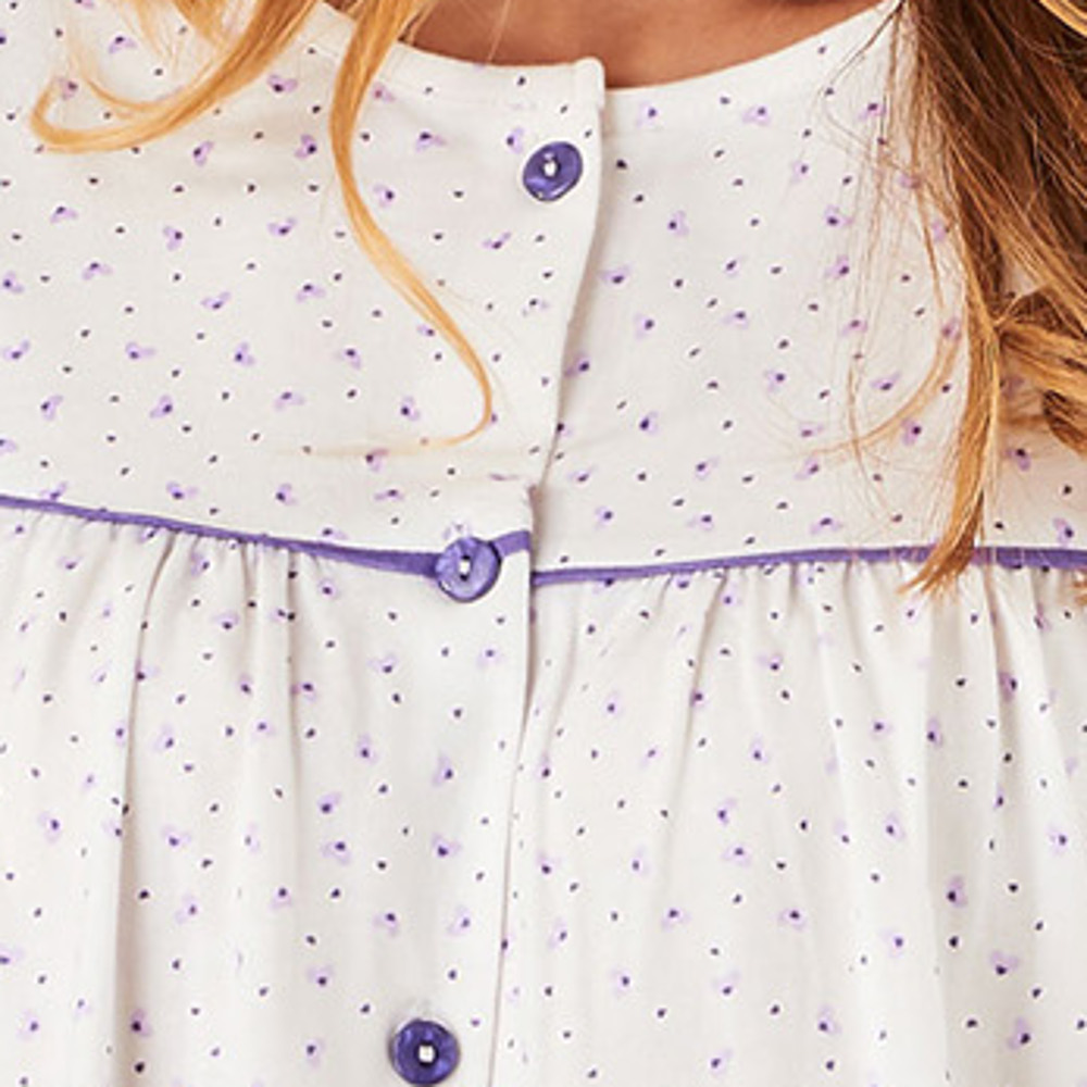 Ladies Pyjamas Slenderella Ditsy Heart Print Button Up Top /& Bottoms Cotton