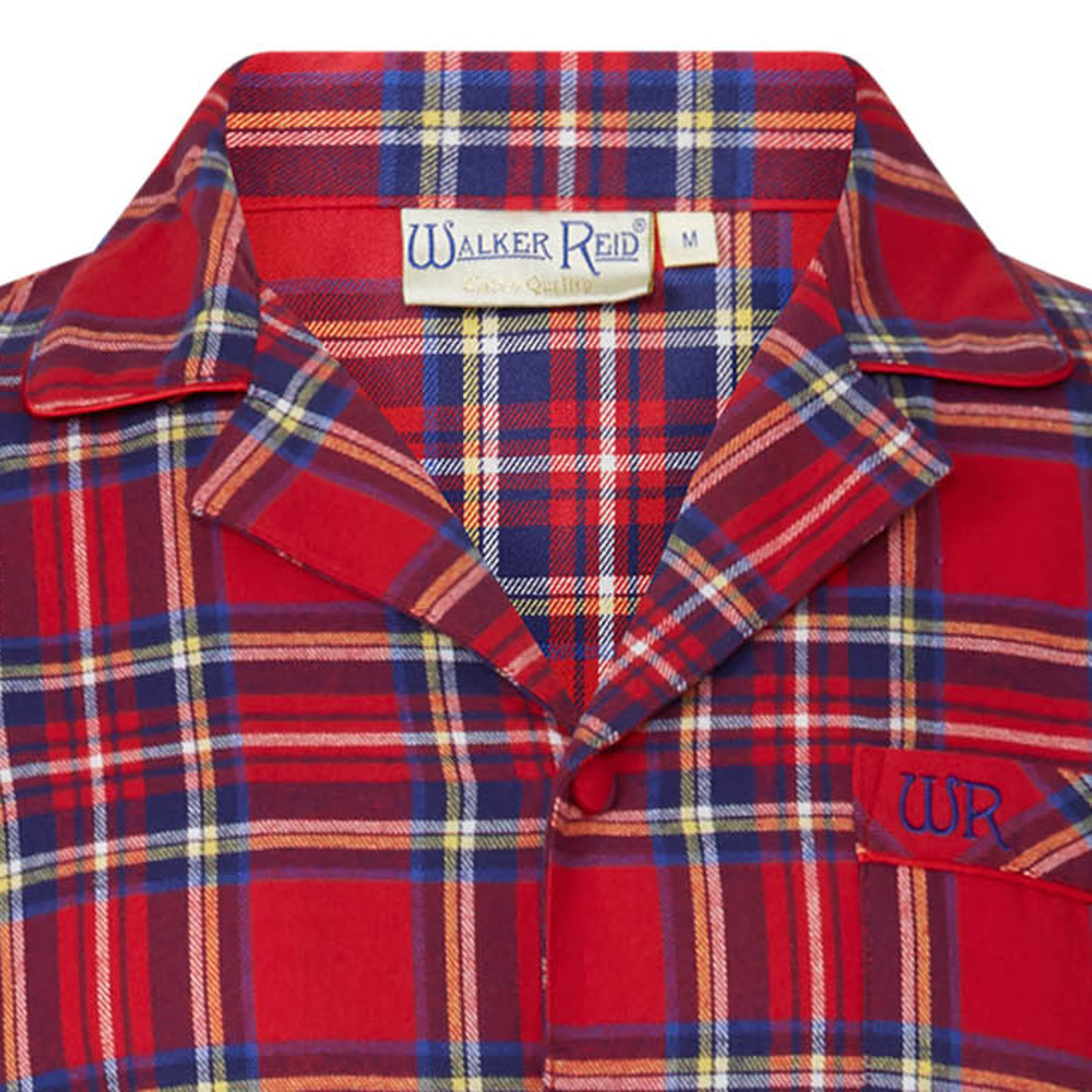 These traditional pyjamas from Walker Reid have a tartan pattern throughout  and the set includes a long sleeved button up top and a pair of full length  ... 95ed862f5