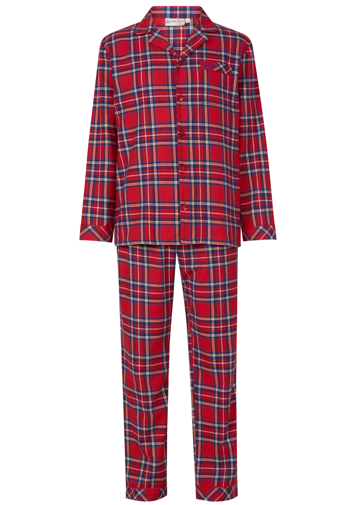 walker reid hommes cossais pyjama fil teint 100 coton boutonn traditionnel ebay. Black Bedroom Furniture Sets. Home Design Ideas