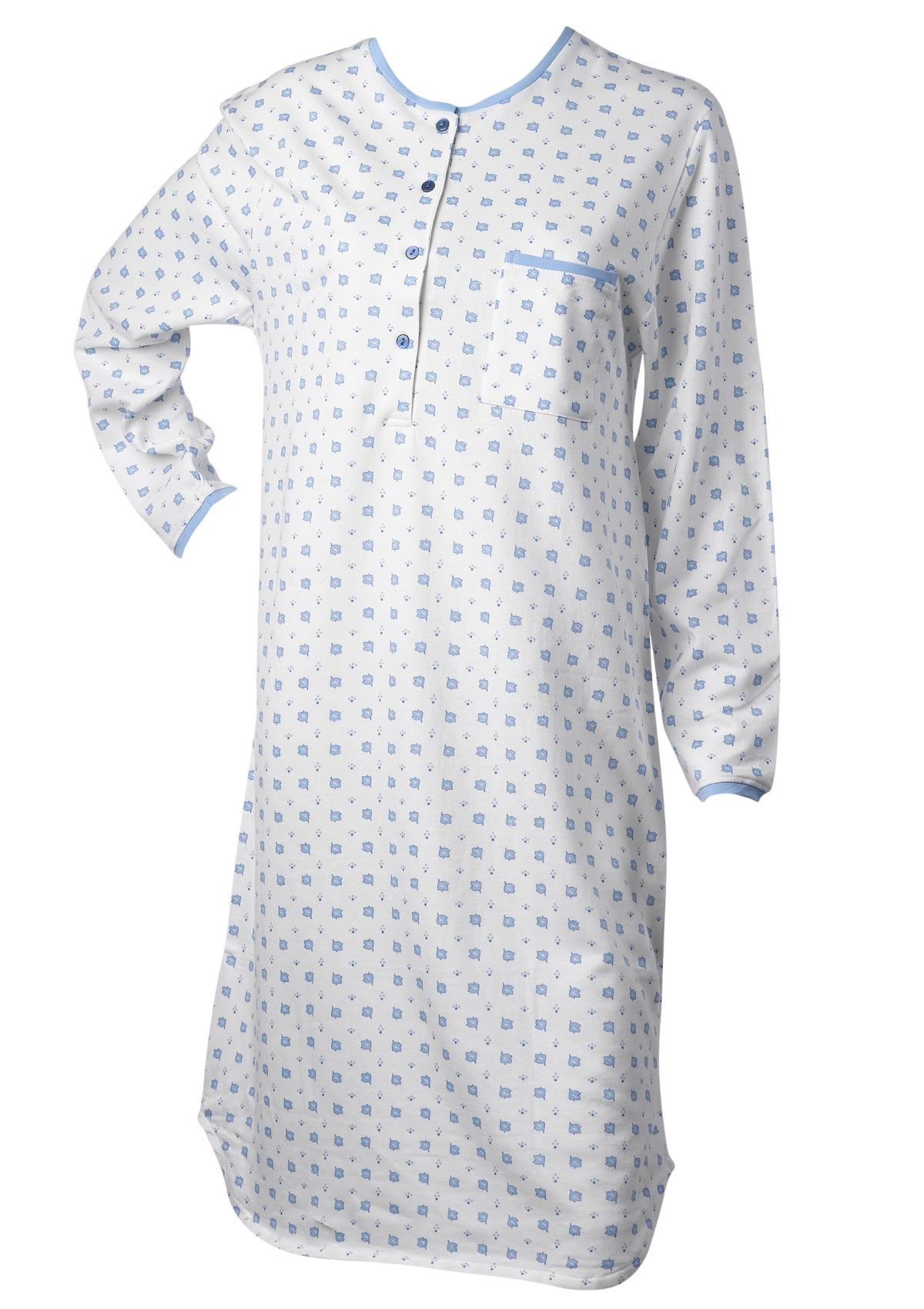e89bca7581 Nightdress 100% Cotton Long Sleeved Leaf   Polka Dot Nightie Waites  Nightwear