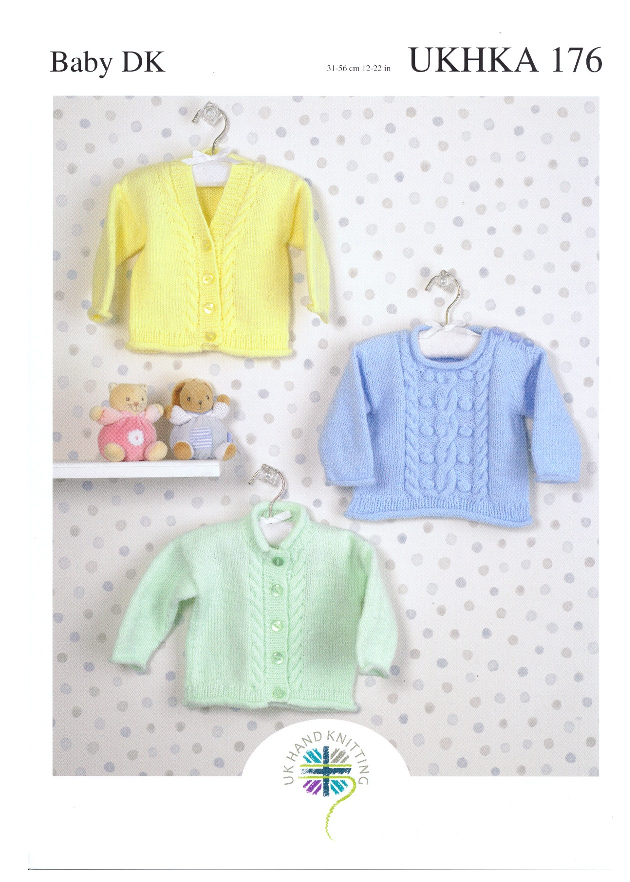 Baby DK Cabled Round V Neck Cardigan & Sweater Double ...