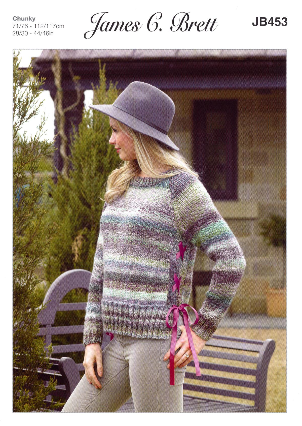 James Brett Womens Chunky Knitting Pattern Side Split or Ribbon ...