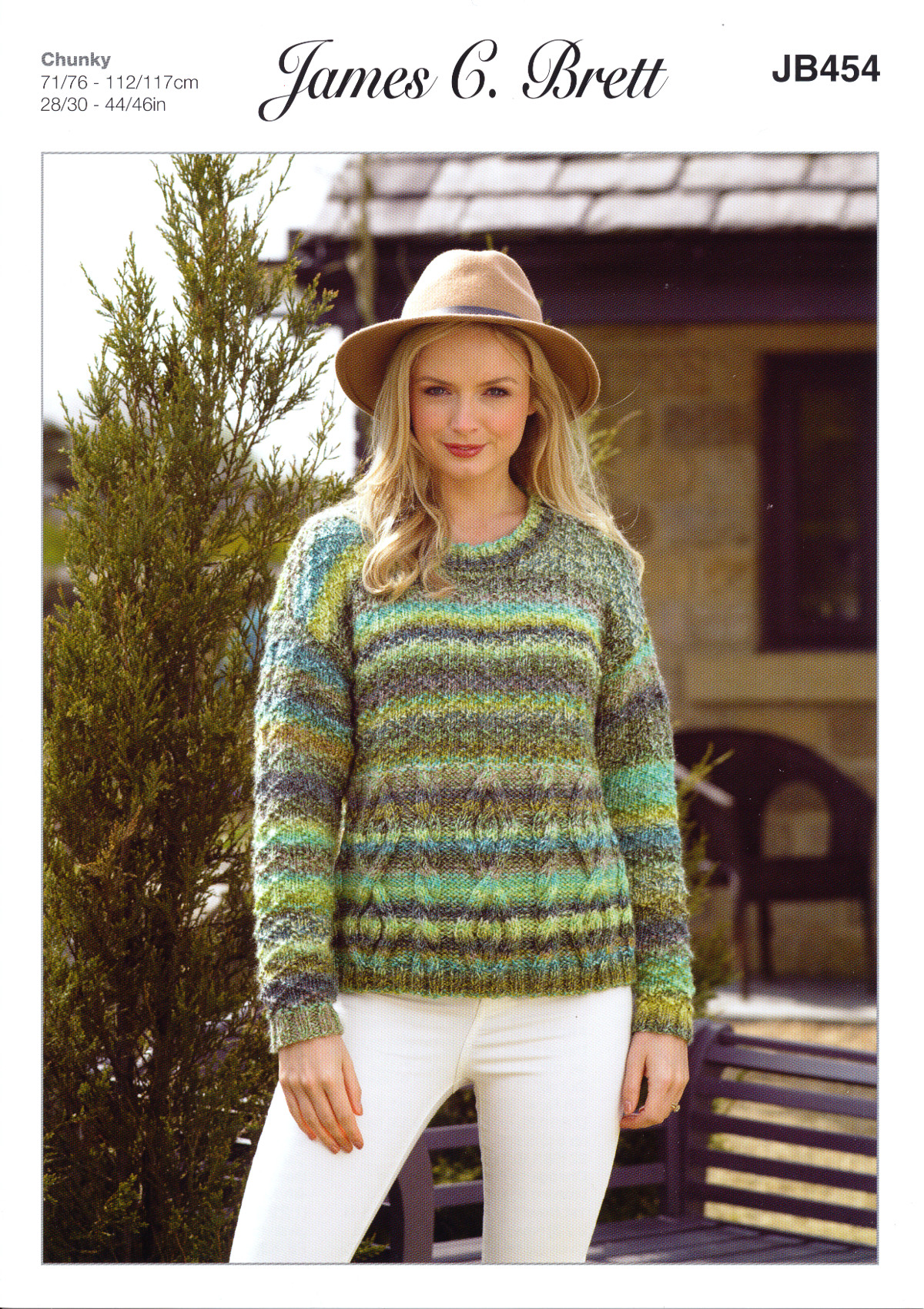 James Brett Knitting Pattern Ladies Marble Chunky Long Sleeve Cable