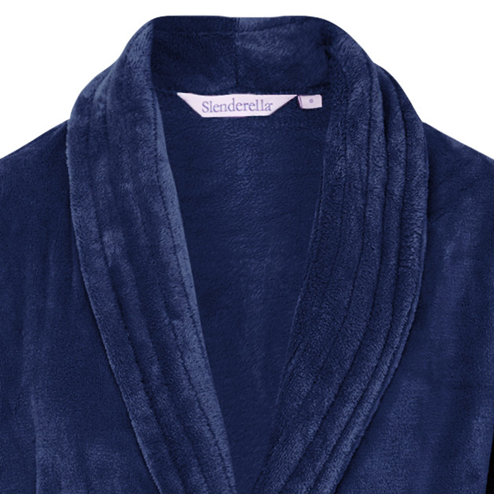 ec8292f12f1ff These luxurious soft coral fleece ladies dressing gowns are a wrap around  style with pockets, a shawl collar and ribbed style detailing.