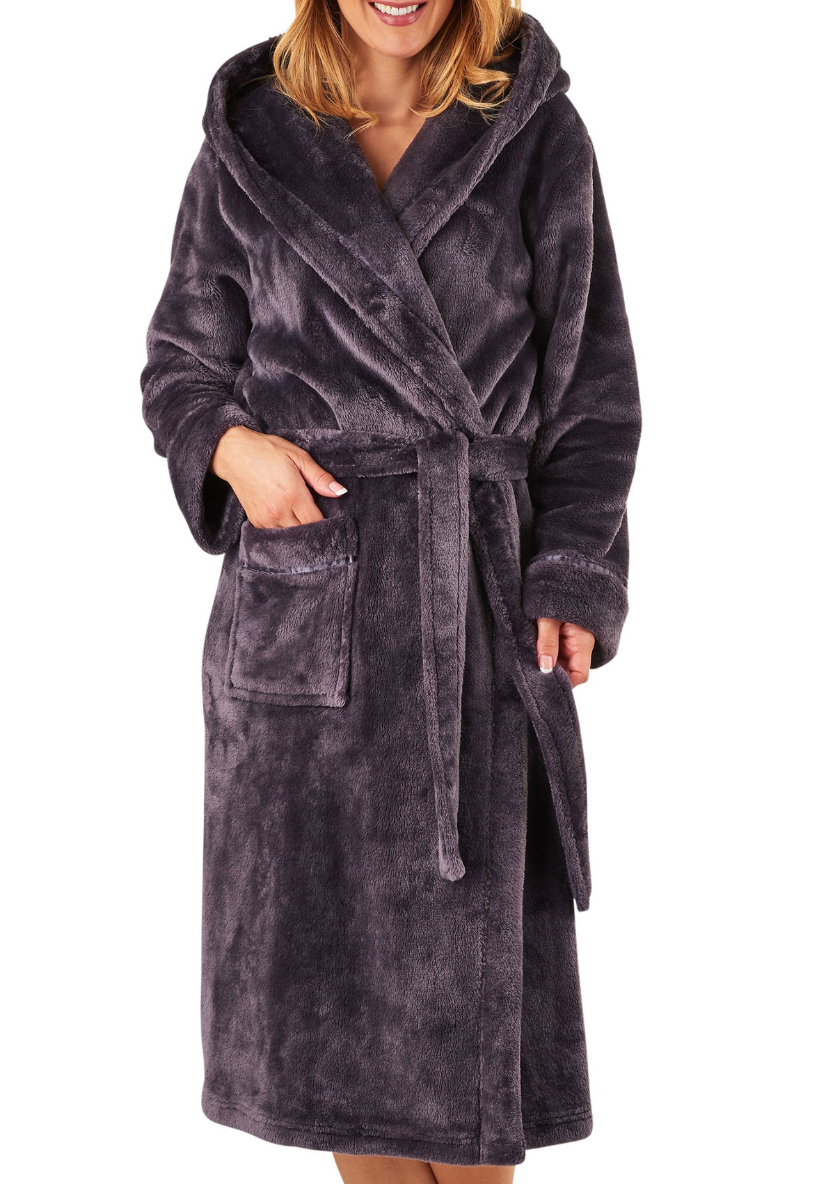 Slenderella Womens Super Soft Thick Fleece Dressing Gown ...