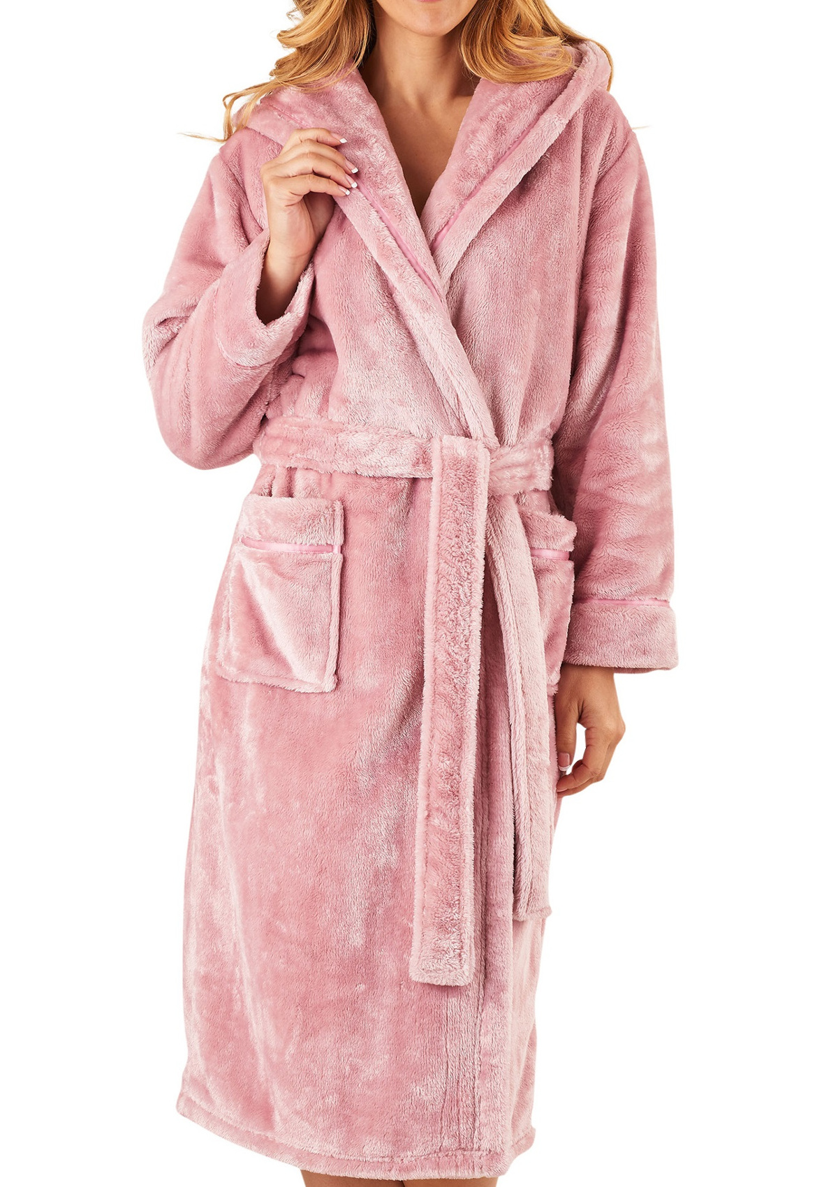 Slenderella Womens Super Soft Thick Fleece Dressing Gown Luxury ...