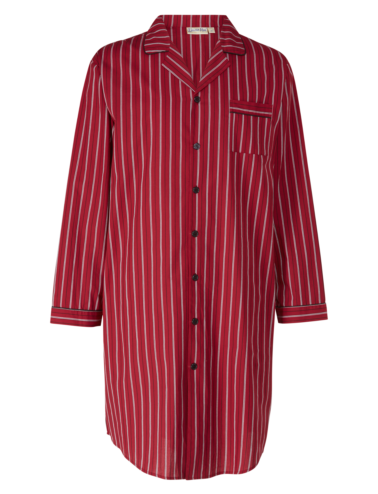 Night Shirt Woven Stripe Mens 100 Cotton Twill Walker