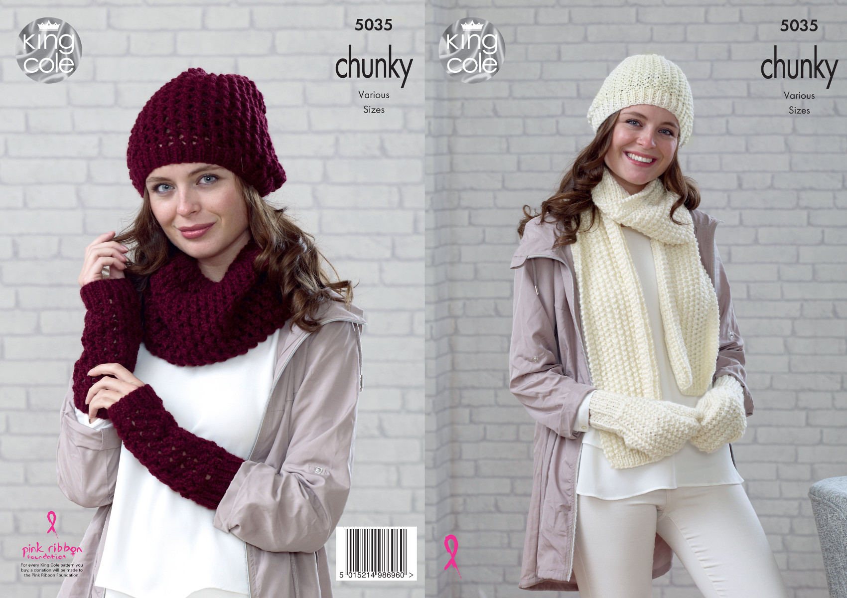 Women Knitting Pattern Chunky Winter Accessories Hat Scarf Snood ...
