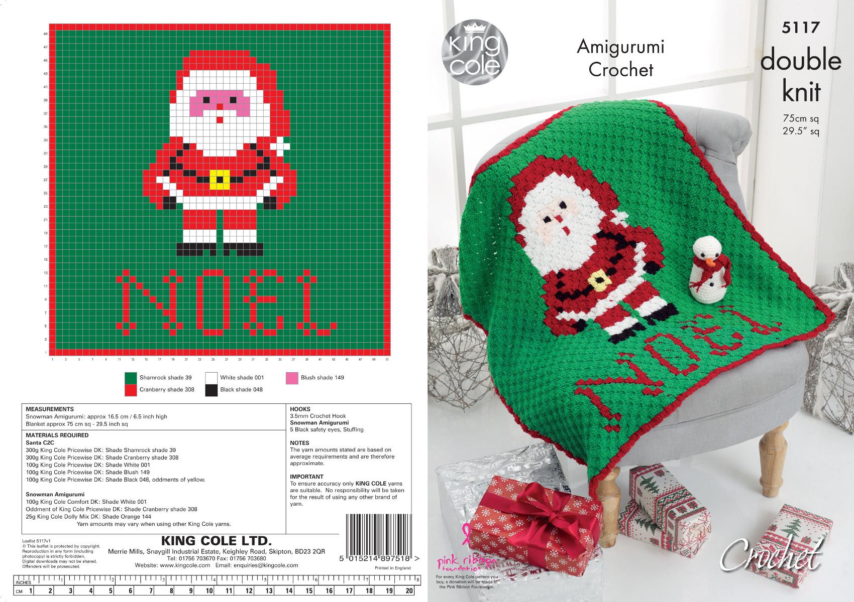 Awesome Santa Häkelmuster Collection - Decke Stricken Muster ...