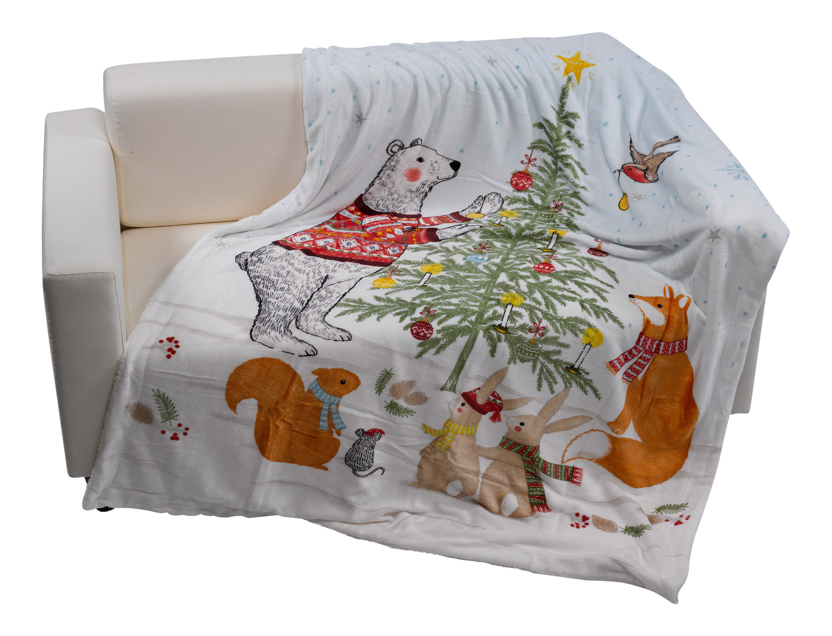Night Before Christmas Blanket Soft Sherpa Fleece Festive Xmas Throw ...