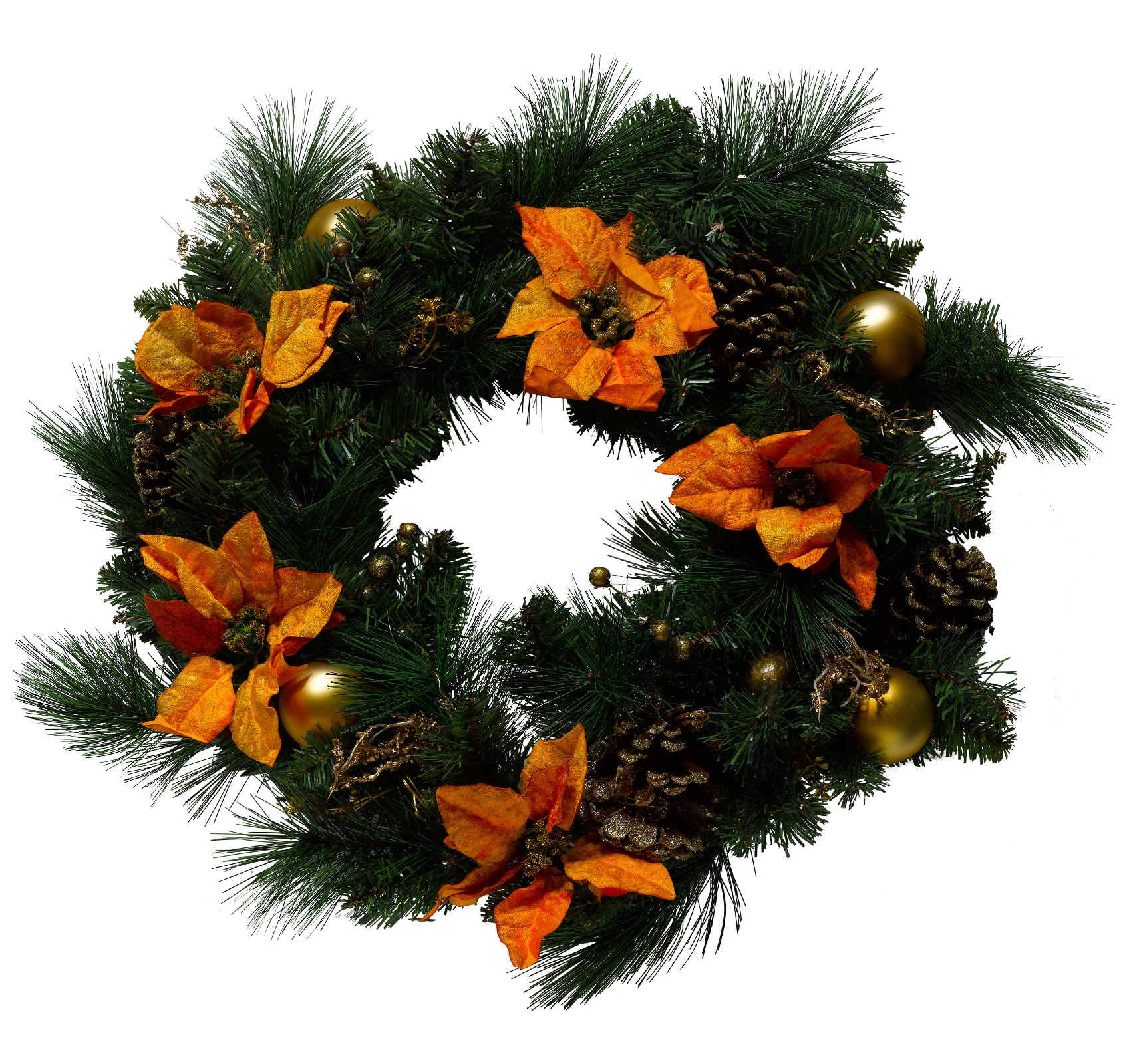 Features:: This pre-decorated wreath would make a great table centrepiece - it looks great on its own or with a large candle in the middle!