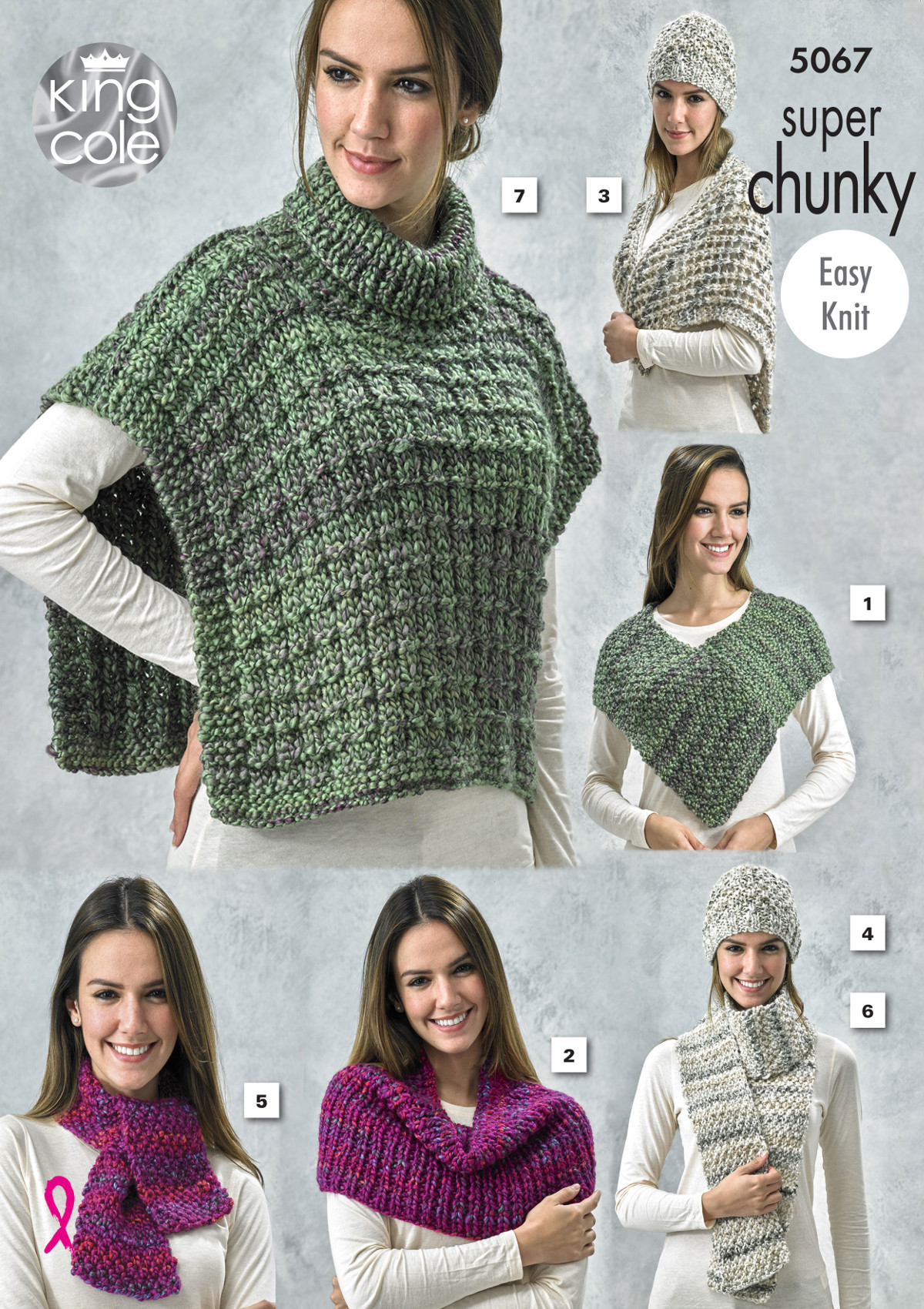Women Knitting Pattern Super Chunky Winter Accessories Easy Knit ...