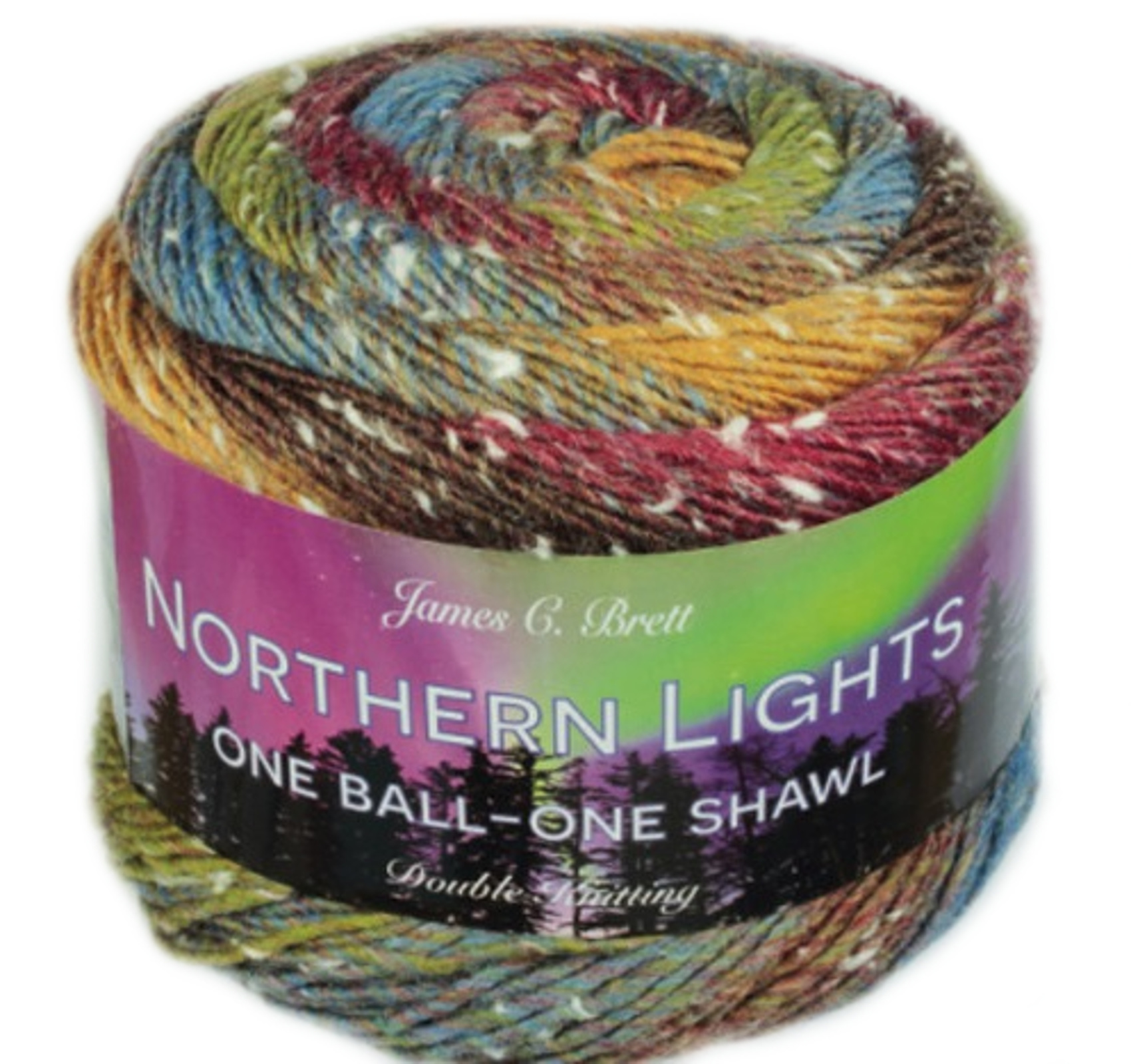 James C NL0 Brett Glisten Northern Lights Double Knitting Wool//Yarn 150g Cake