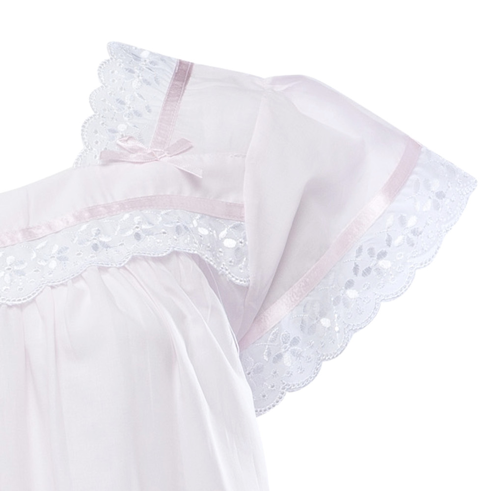 a49e017f26 This traditional ladies nightdress has short sleeves with pretty broderie  anglaise and ribbon trim and is the perfect lightweight option for the  warmer ...