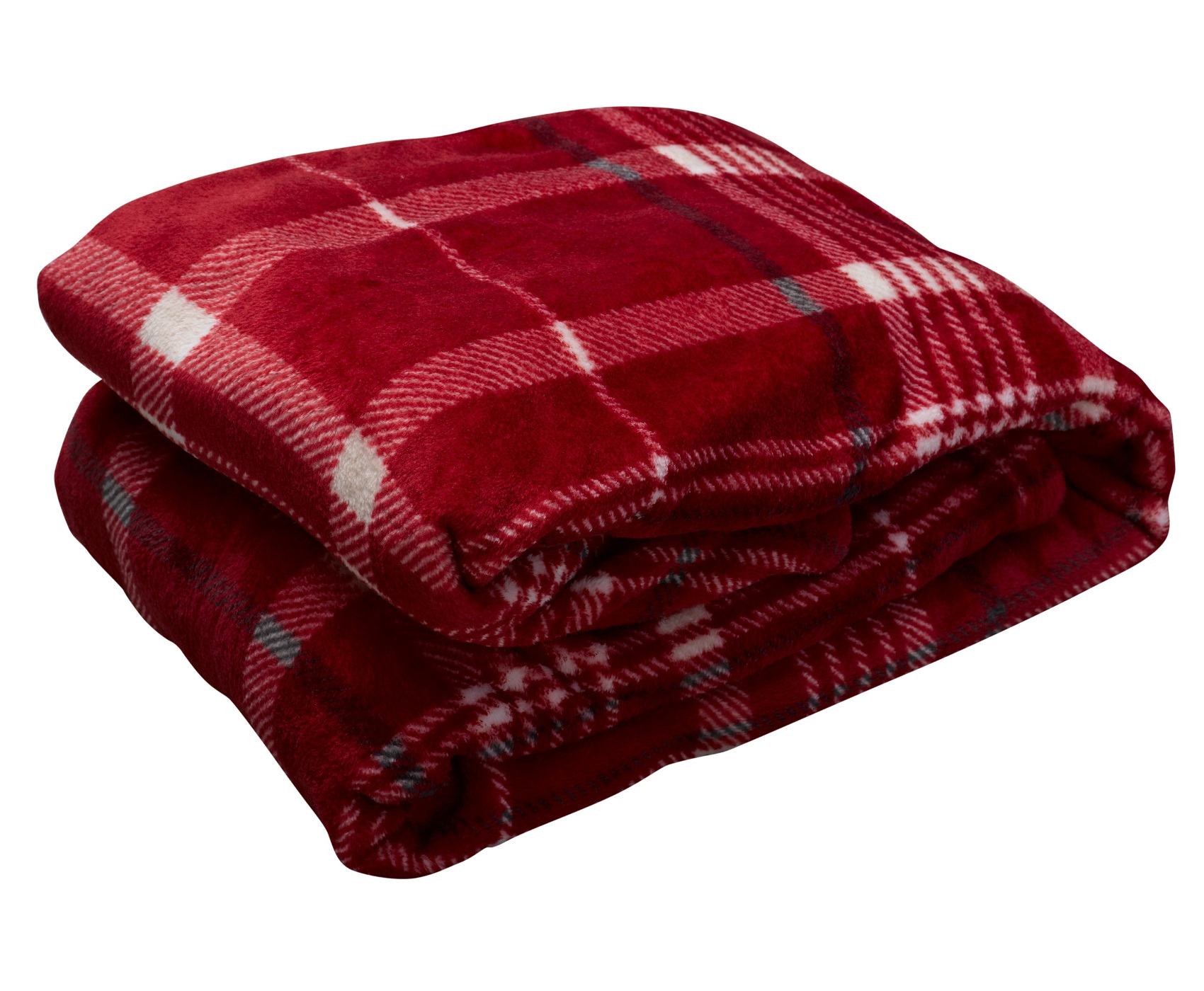 "Grey Check Soft Fleecy Blanket Cosy Warm Fleece Bed Sofa Throwover 51/"" x 71/"""