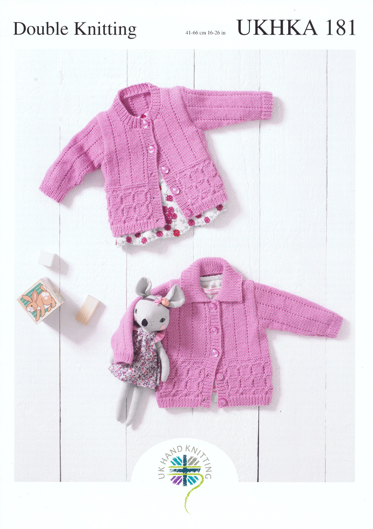 2d1efce8d UKHKA 181 Baby Double Knitting Pattern Round Neck or Collar Lacy ...