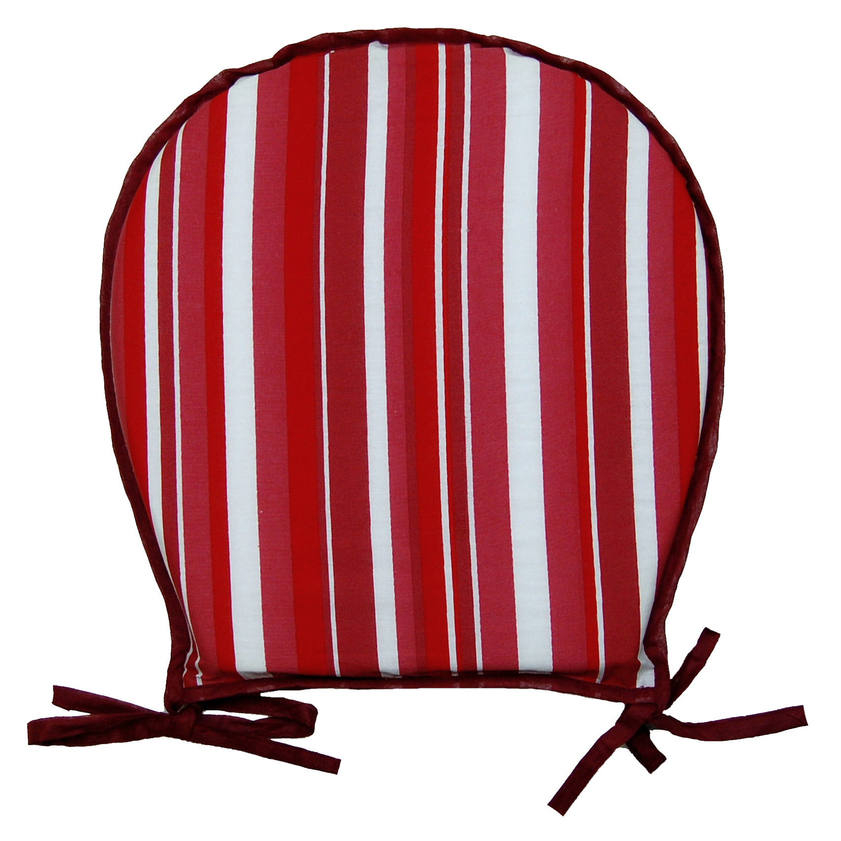 100 Cotton Striped Round Seat Pad Dining Garden