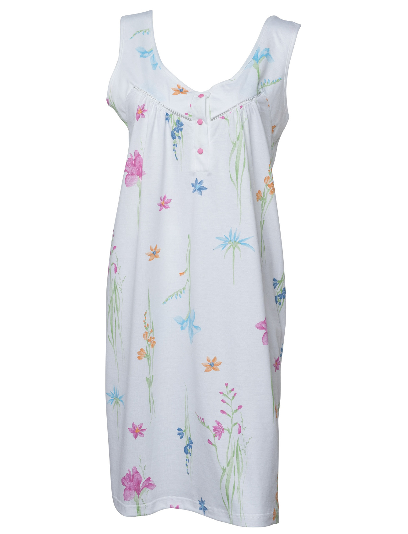 Floral Nightdress 100% Jersey Cotton Sleeveless Flower Nighty Womens  Nightwear 19da9cb2c