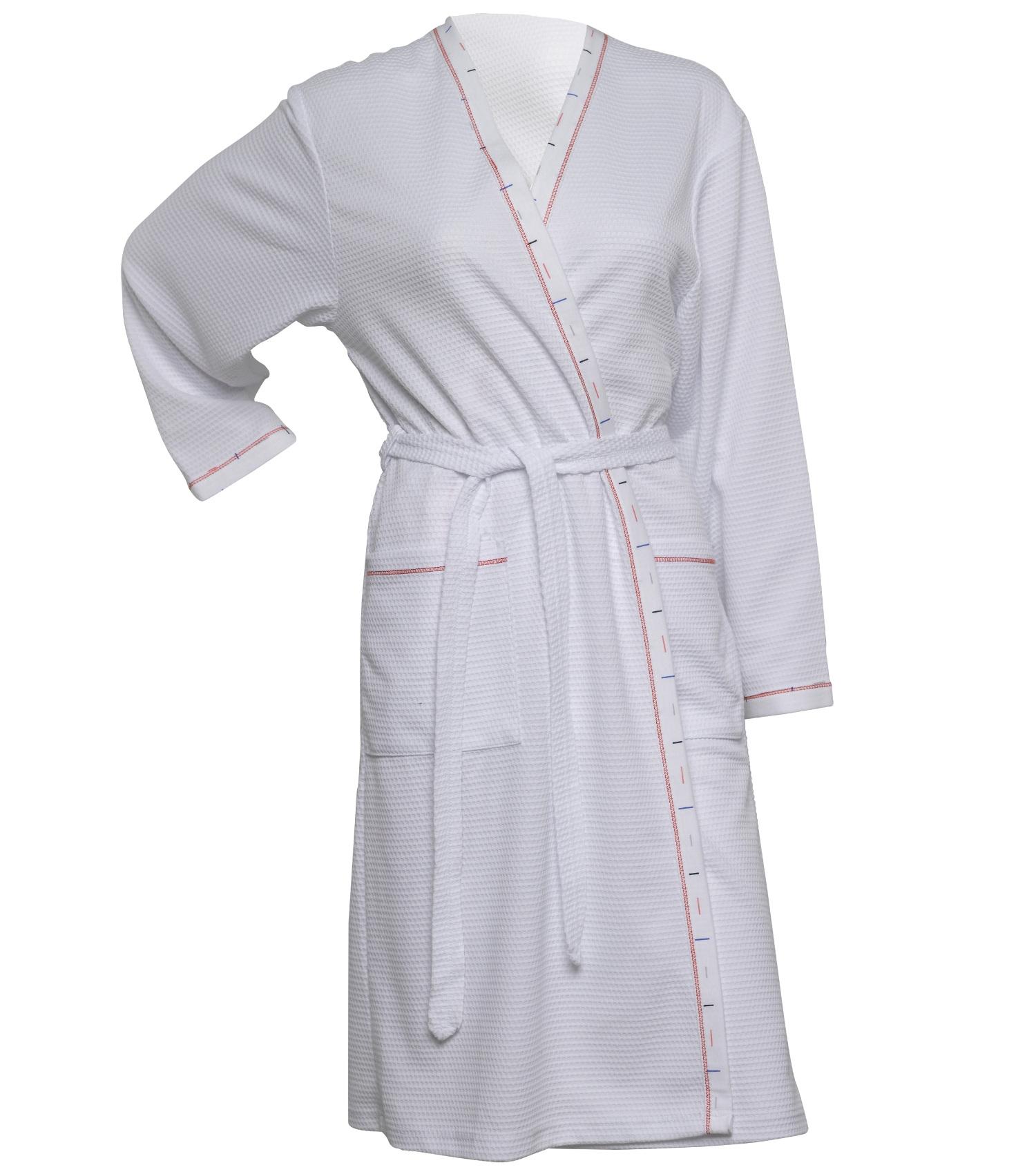 Waffle Dressing Gown Ladies Lightweight Bathrobe Summer Spa Hotel ...