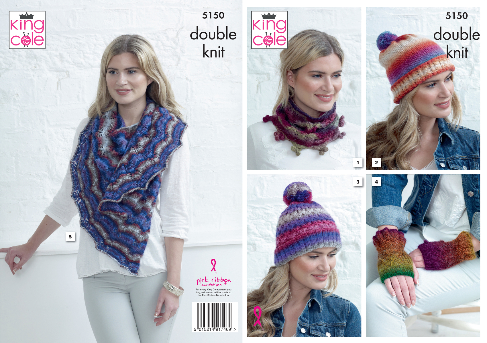 9368865f5cacf Knitting Pattern Ladies Accessories Cowl Hat Hand Warmer Shawl King ...