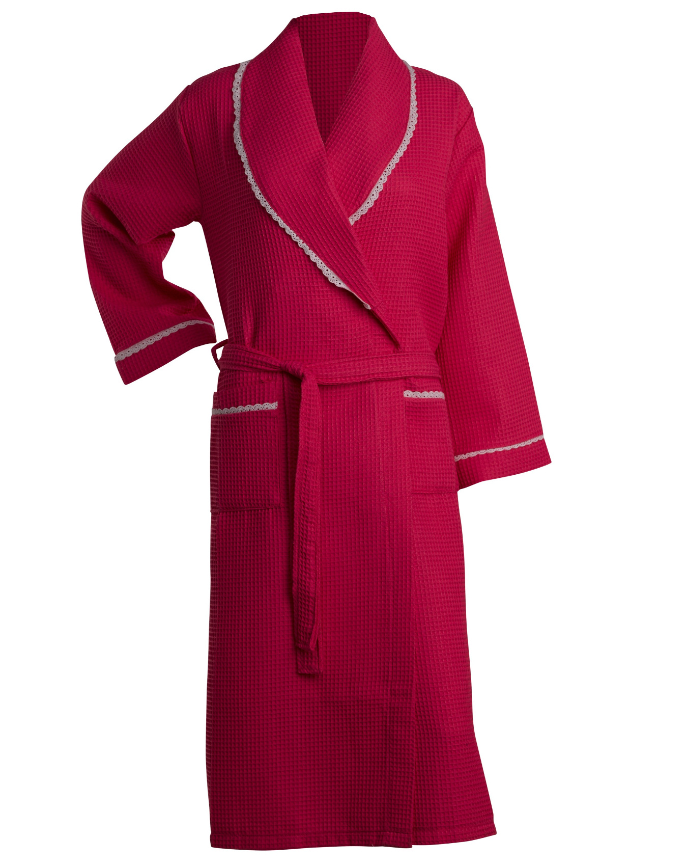 Bathrobe Womens Lightweight Waffle Lace Trim Dressing Gown ...
