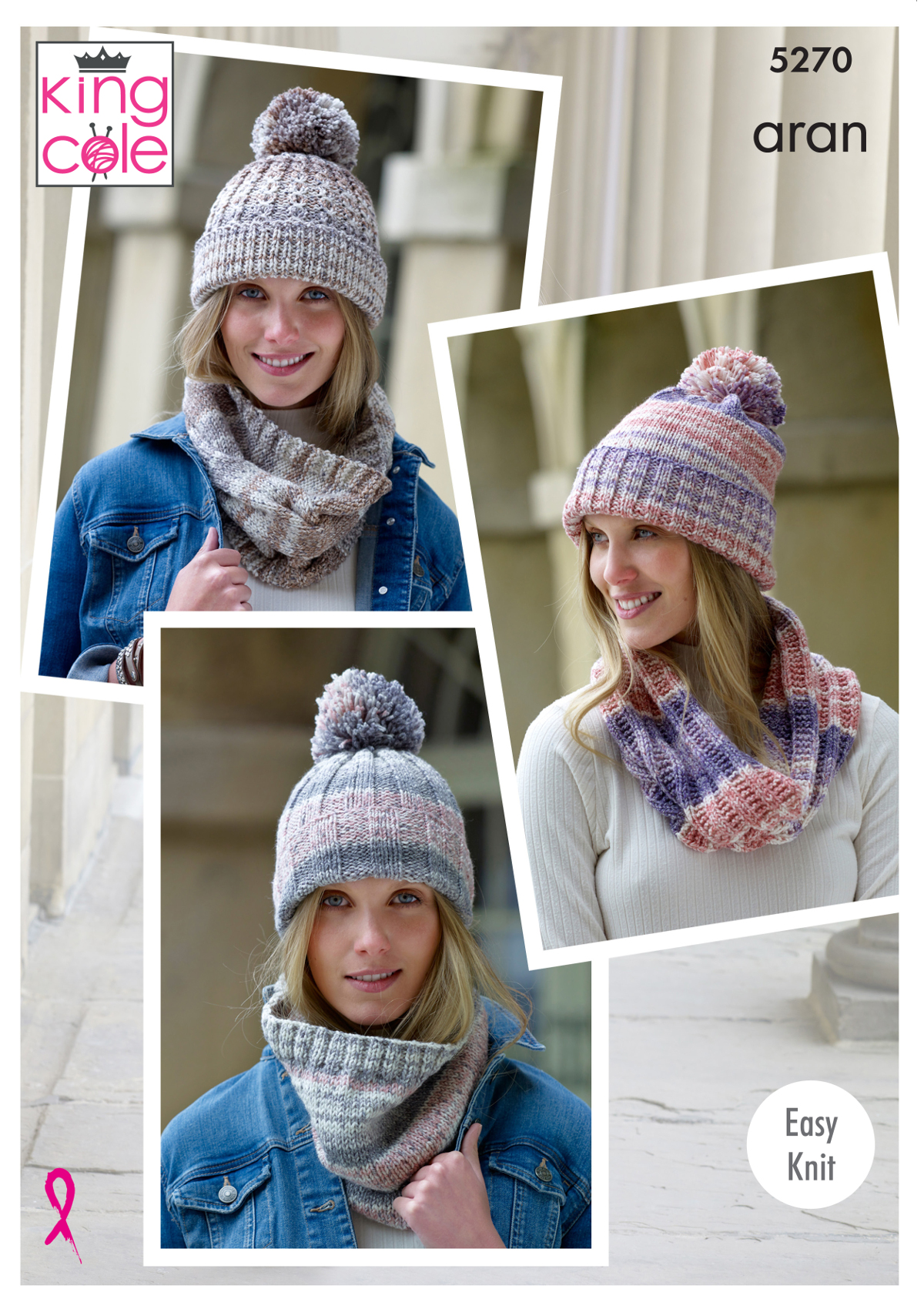Easy Knit Womens Snoods   Hats Ladies Knitting Pattern King Cole Aran 5270 fe75a15c350