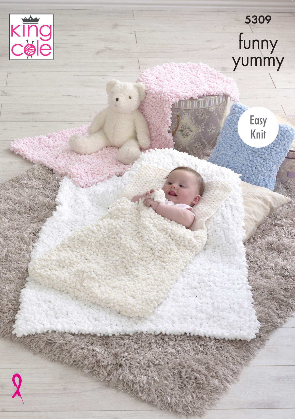 King Cole Funny Yummy Knitting Pattern Easy Knit Baby