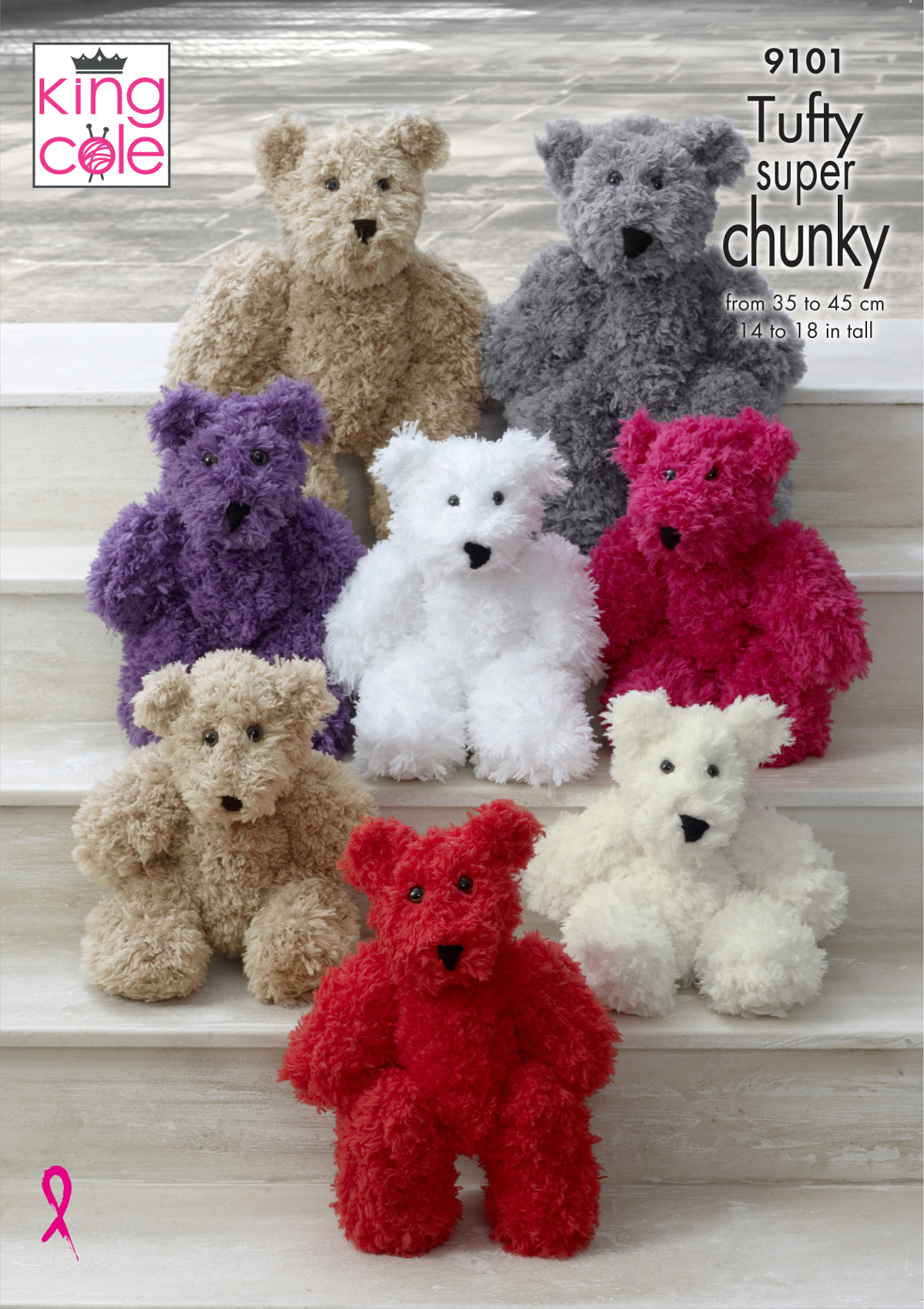 T033 KNITTING PATTERN BABY BEAR SOFT AND FLUFFY TEDDY CHILDREN/'S SOFT TOY