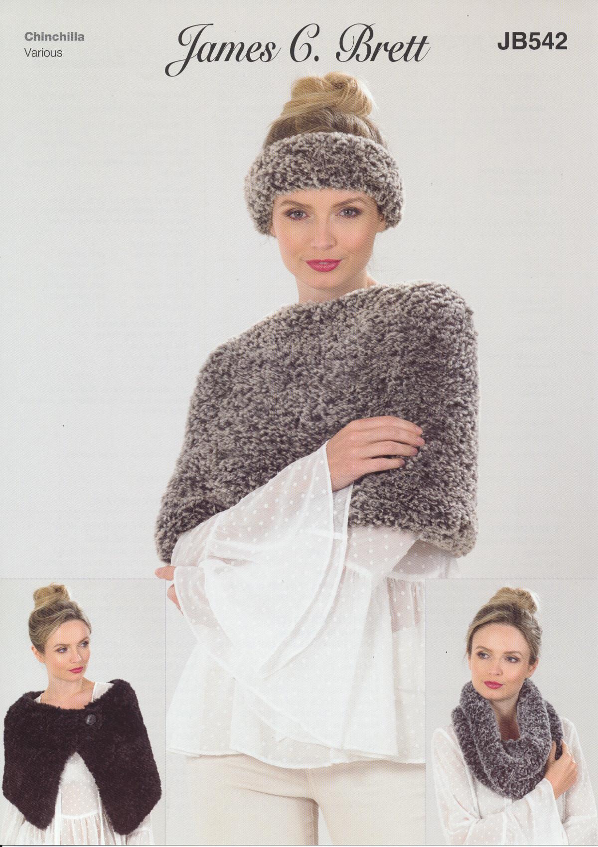 4bf6938e5243a Knitting Pattern Ladies Winter Accessories James Brett Chinchilla ...