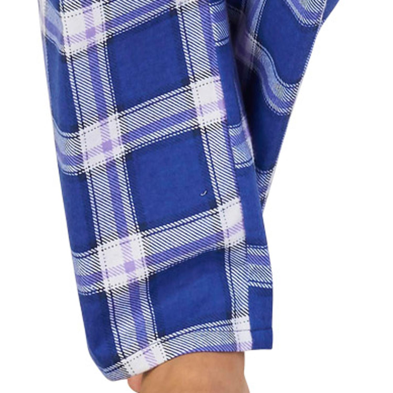 Pyjamas Ladies Slenderella 100/% Cotton PJs Set Womens Tartan Check Nightwear