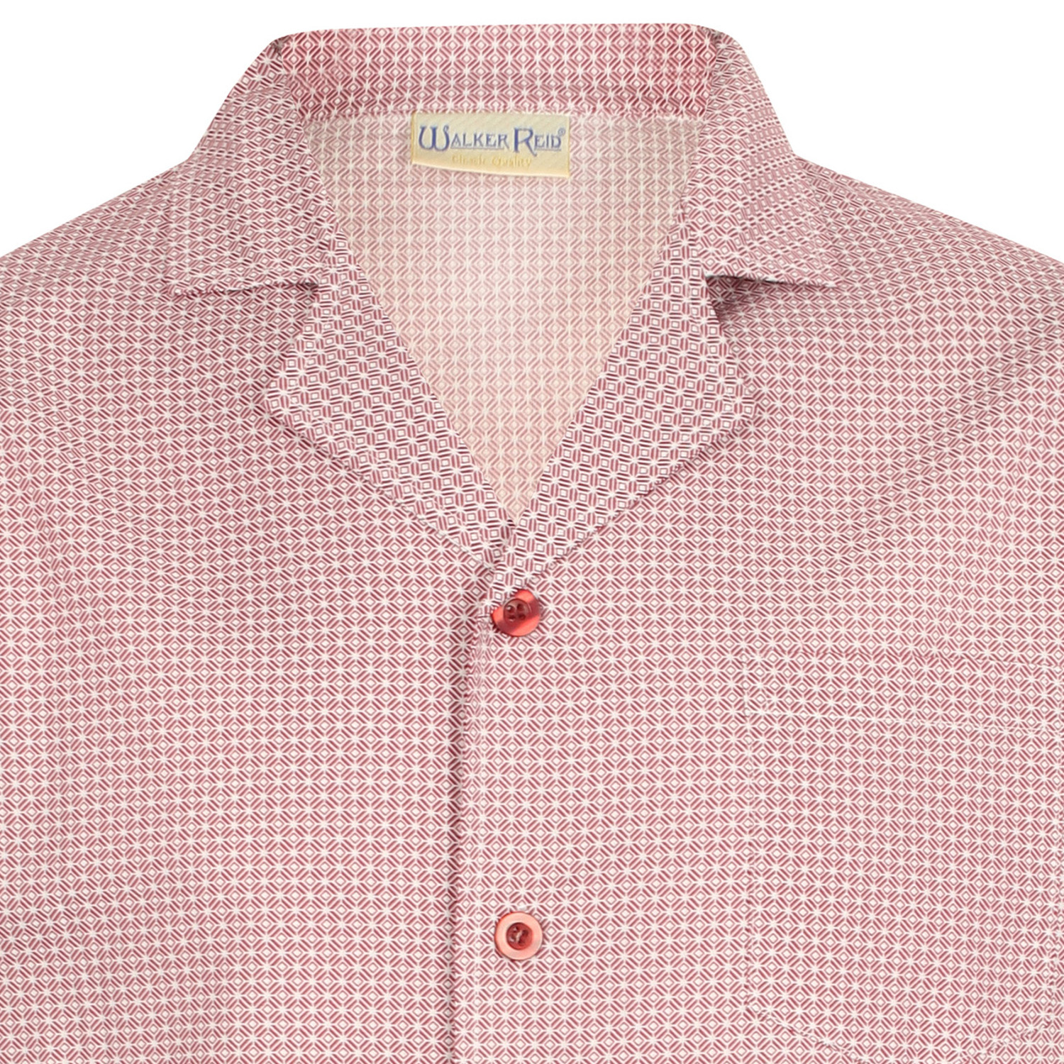 87af001c45 These traditional nightshirts from Walker Reid have a geo print pattern  throughout