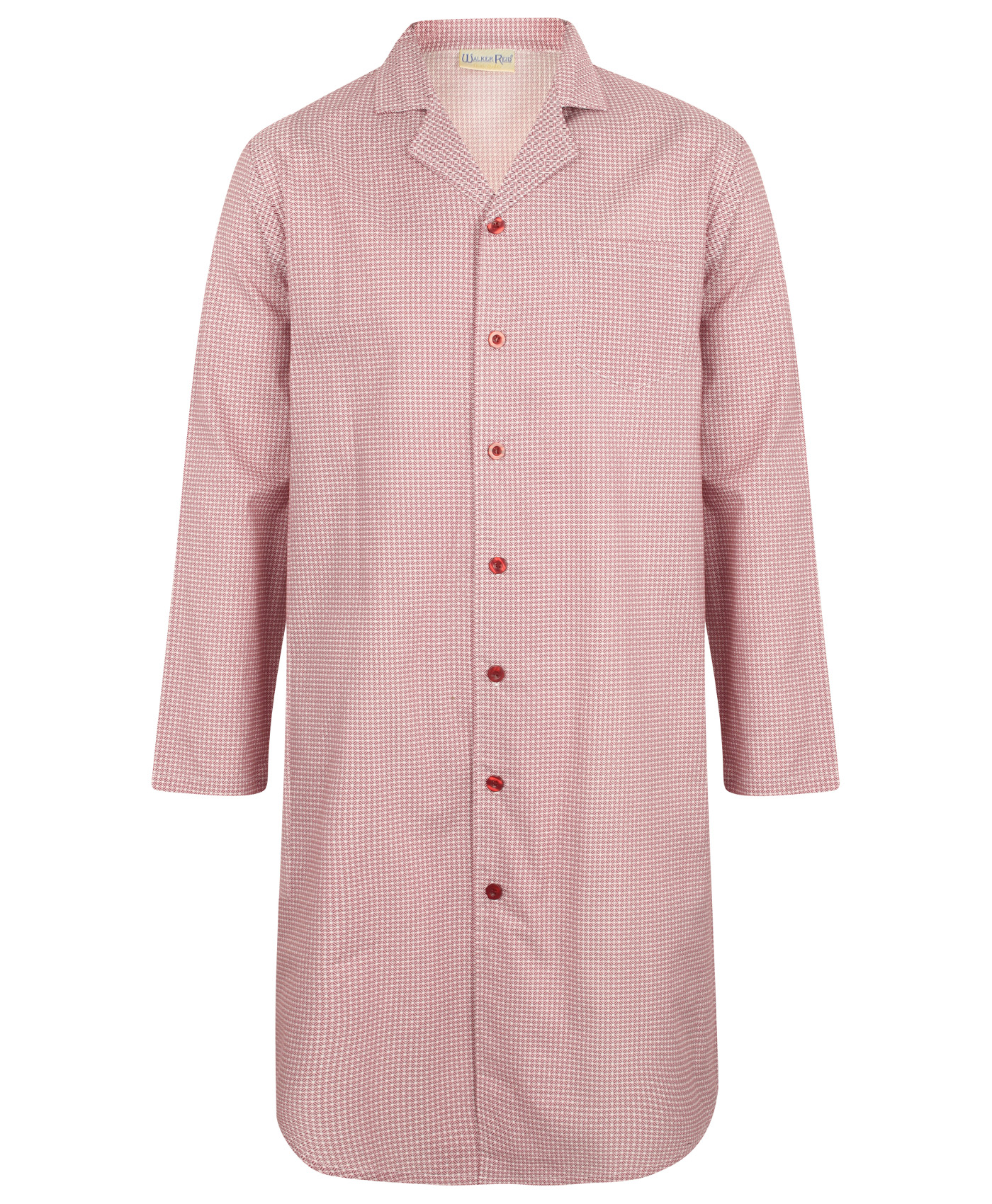 f12a0865a9 Night Shirt Geo Print Cotton Walker Reid Mens Button Up Traditional  Sleepwear