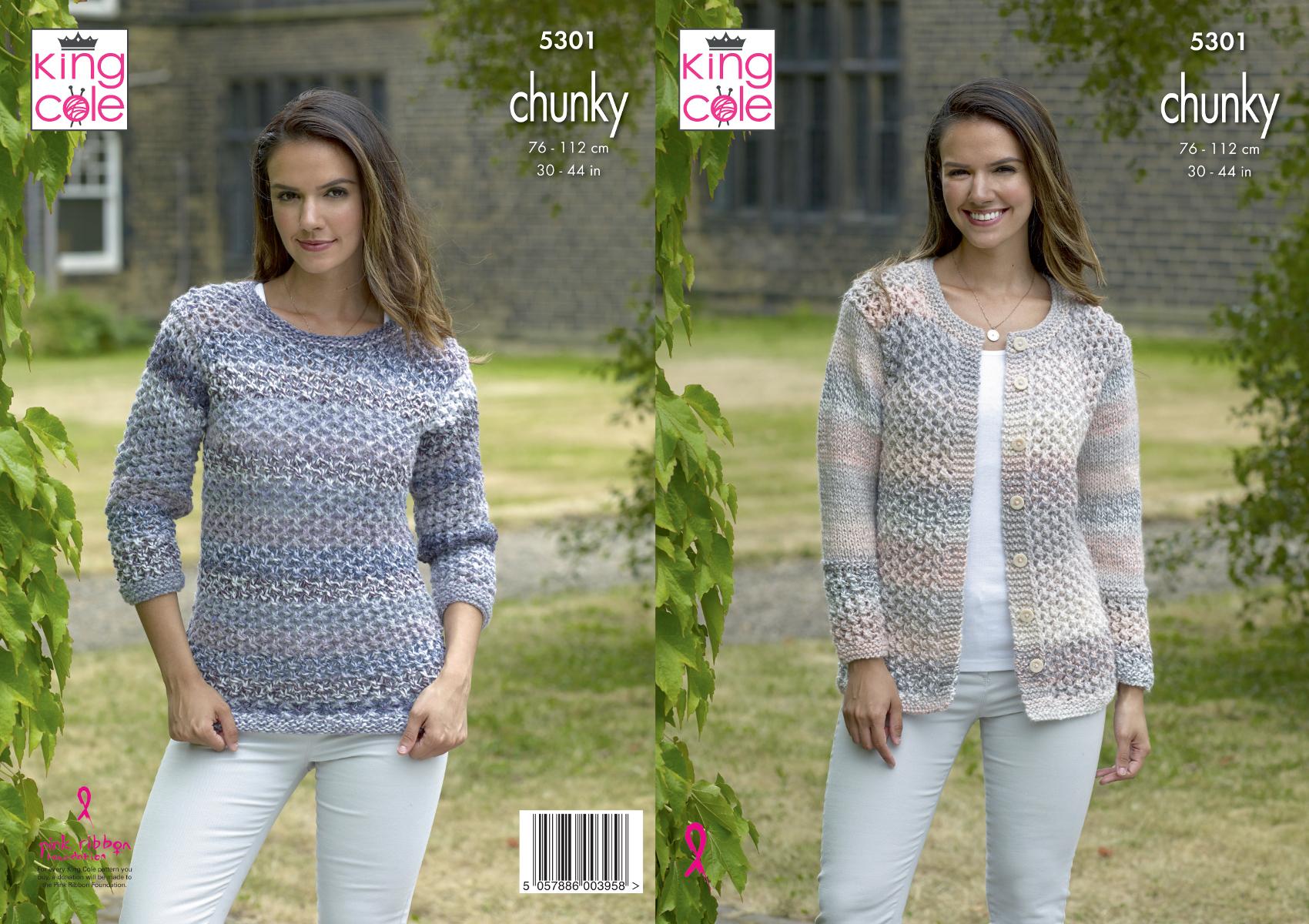 womens cardigan chunky knitting pattern