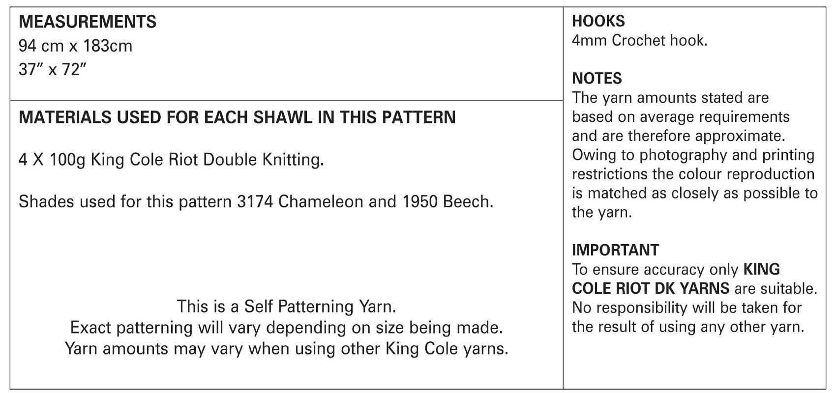 Ladies Virus Shawl Double Knit Crochet Pattern Womens King Cole Riot